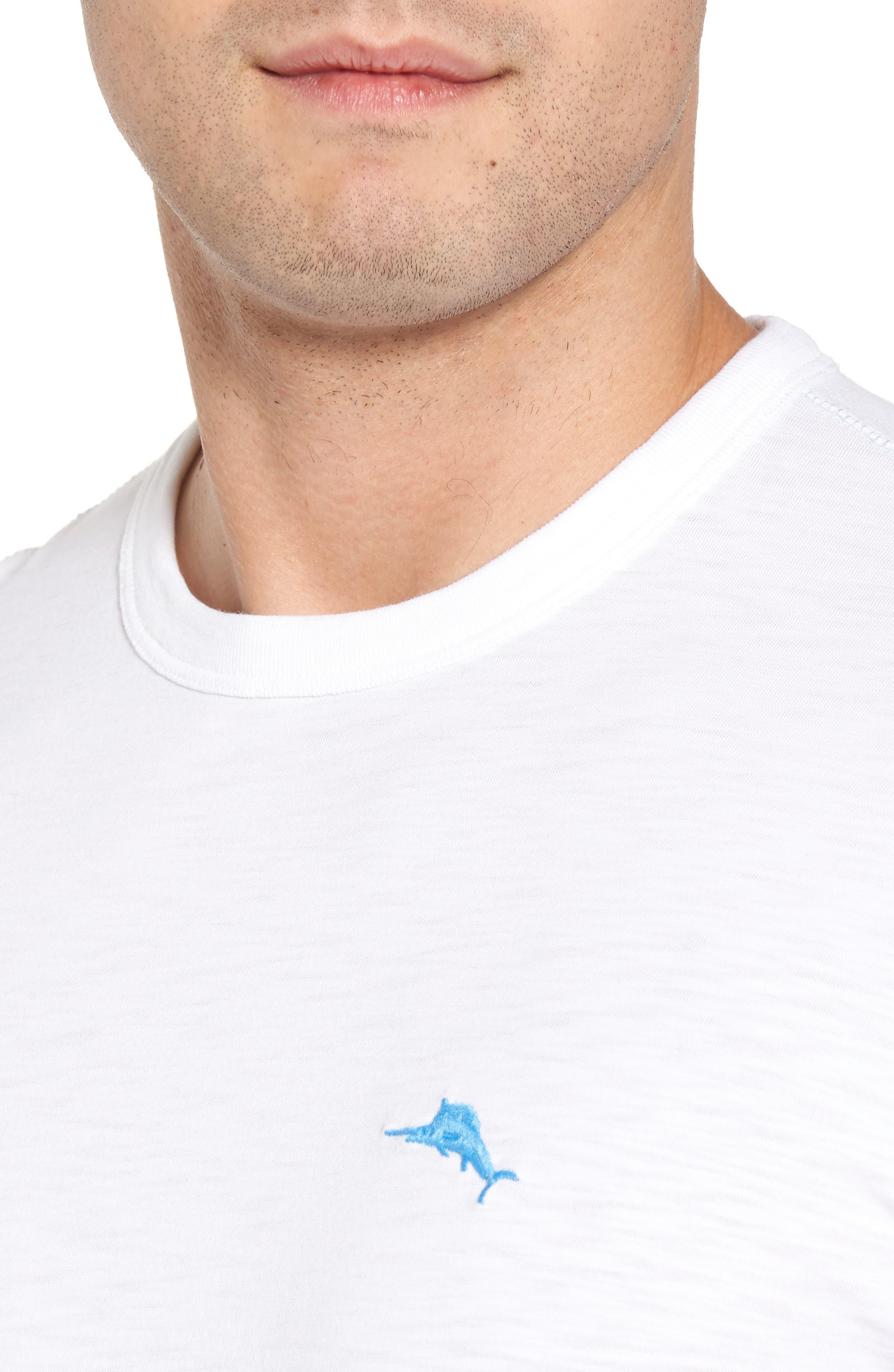 Palmae Beach Lux T-Shirt,                             Alternate thumbnail 4, color,                             White