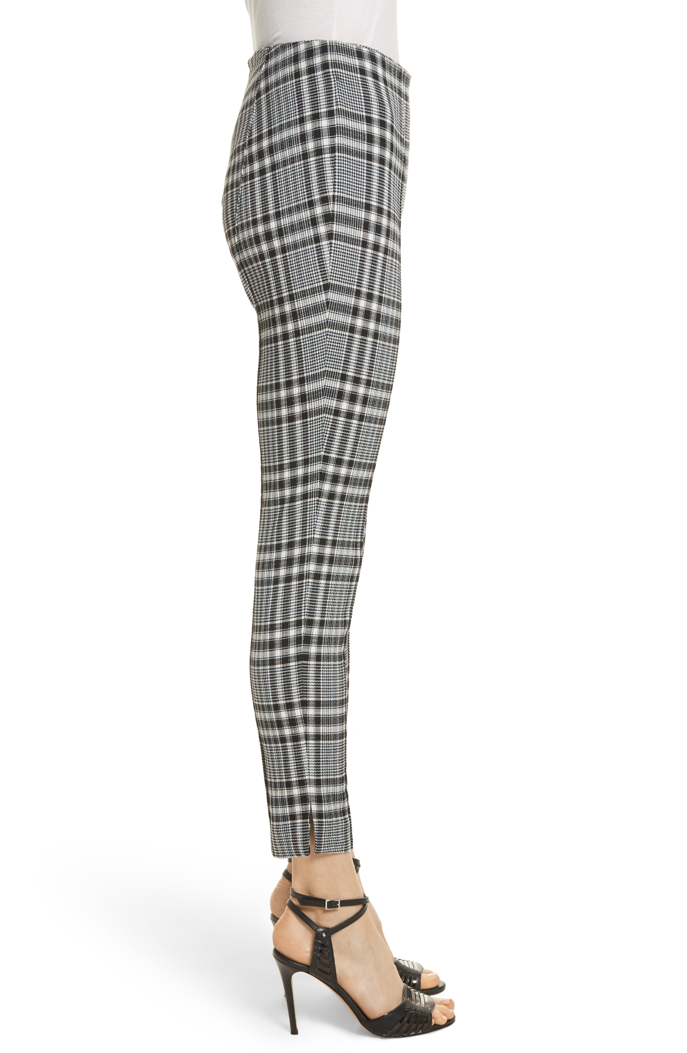 Honolulu Plaid Crop Pants,                             Alternate thumbnail 3, color,                             Black/ Blue