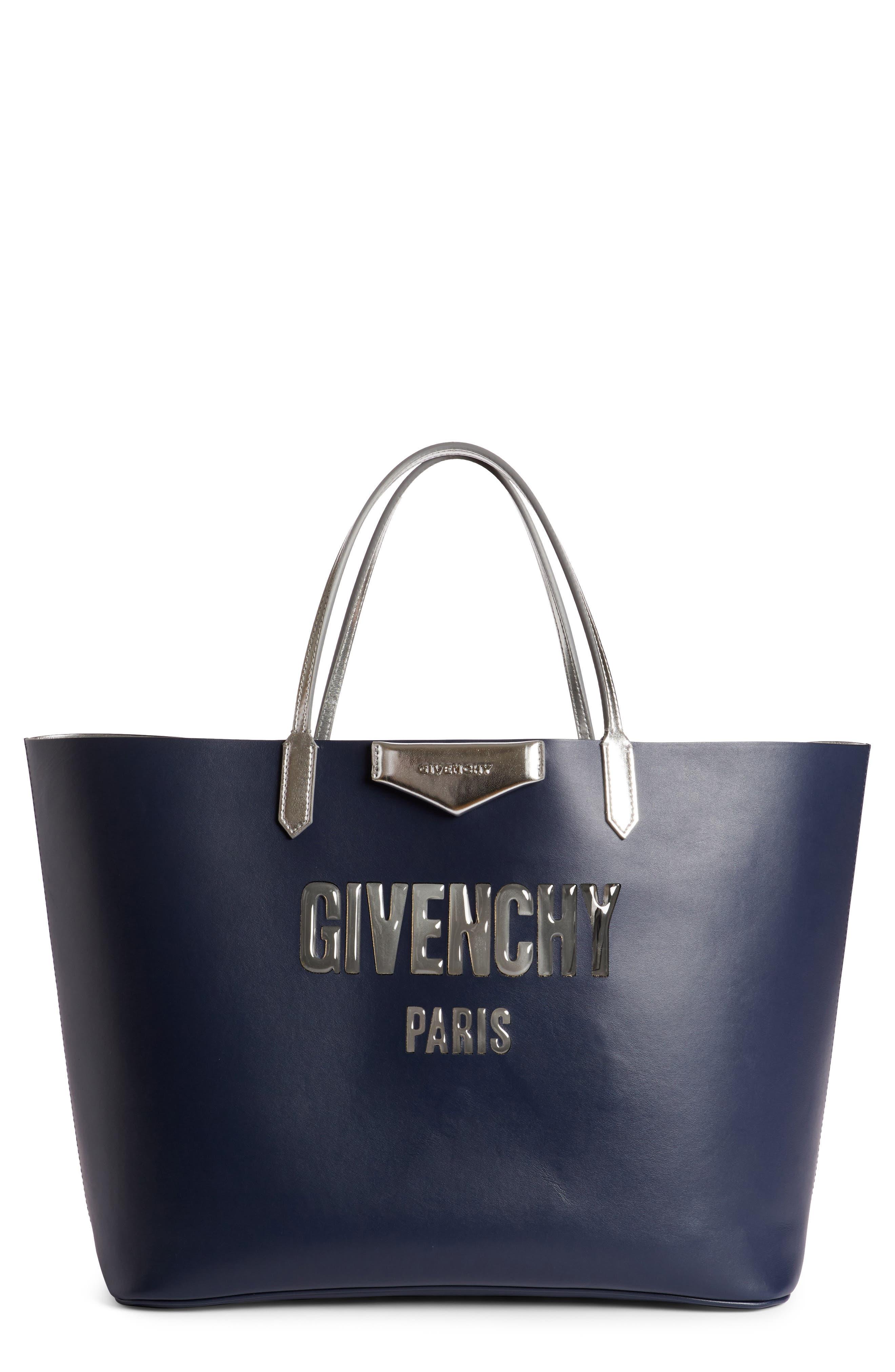 Givenchy Antigona Bubble Logo Calfskin Tote