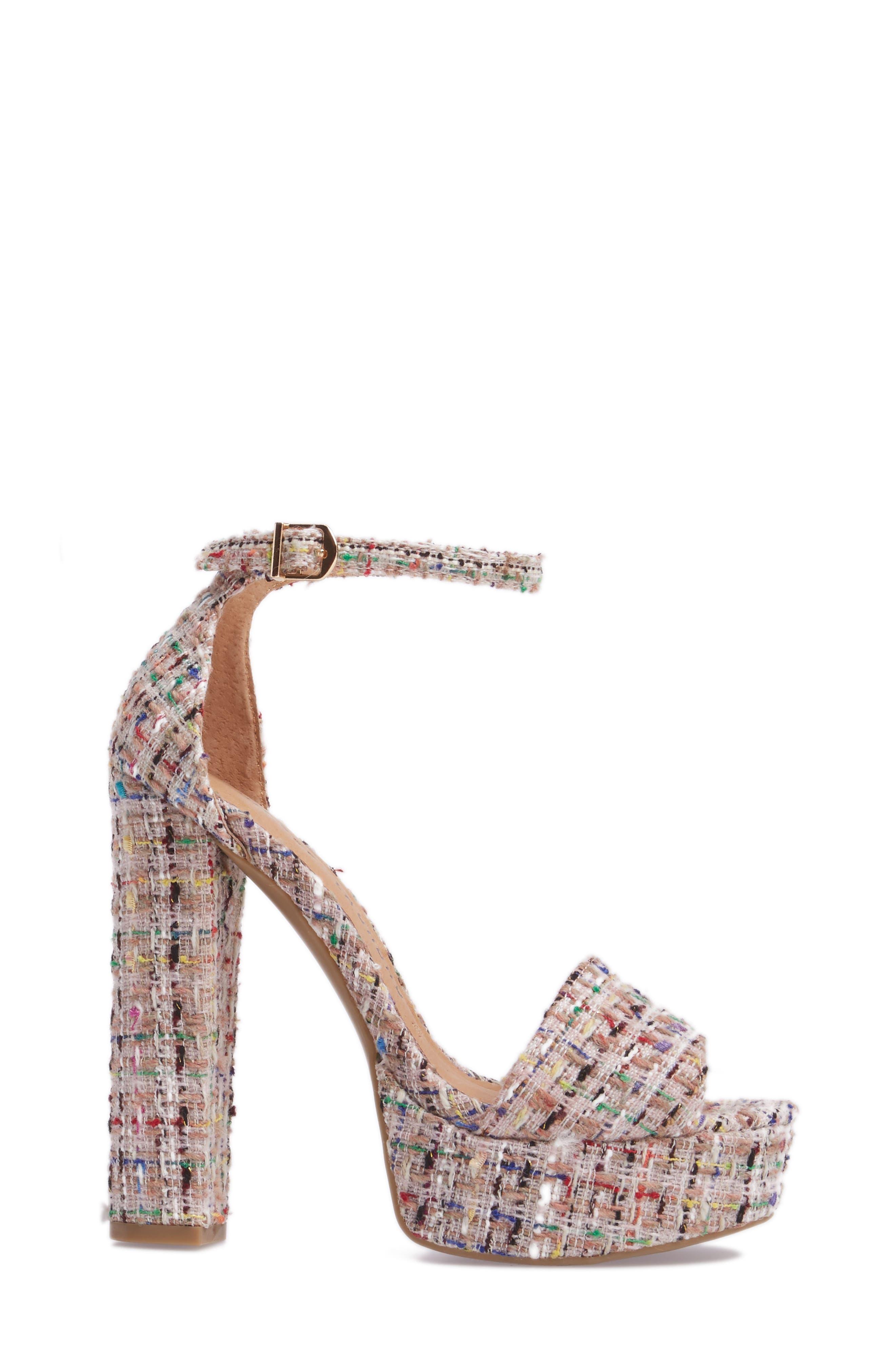 'Avenue' Sandal,                             Alternate thumbnail 3, color,                             Pink Tweed