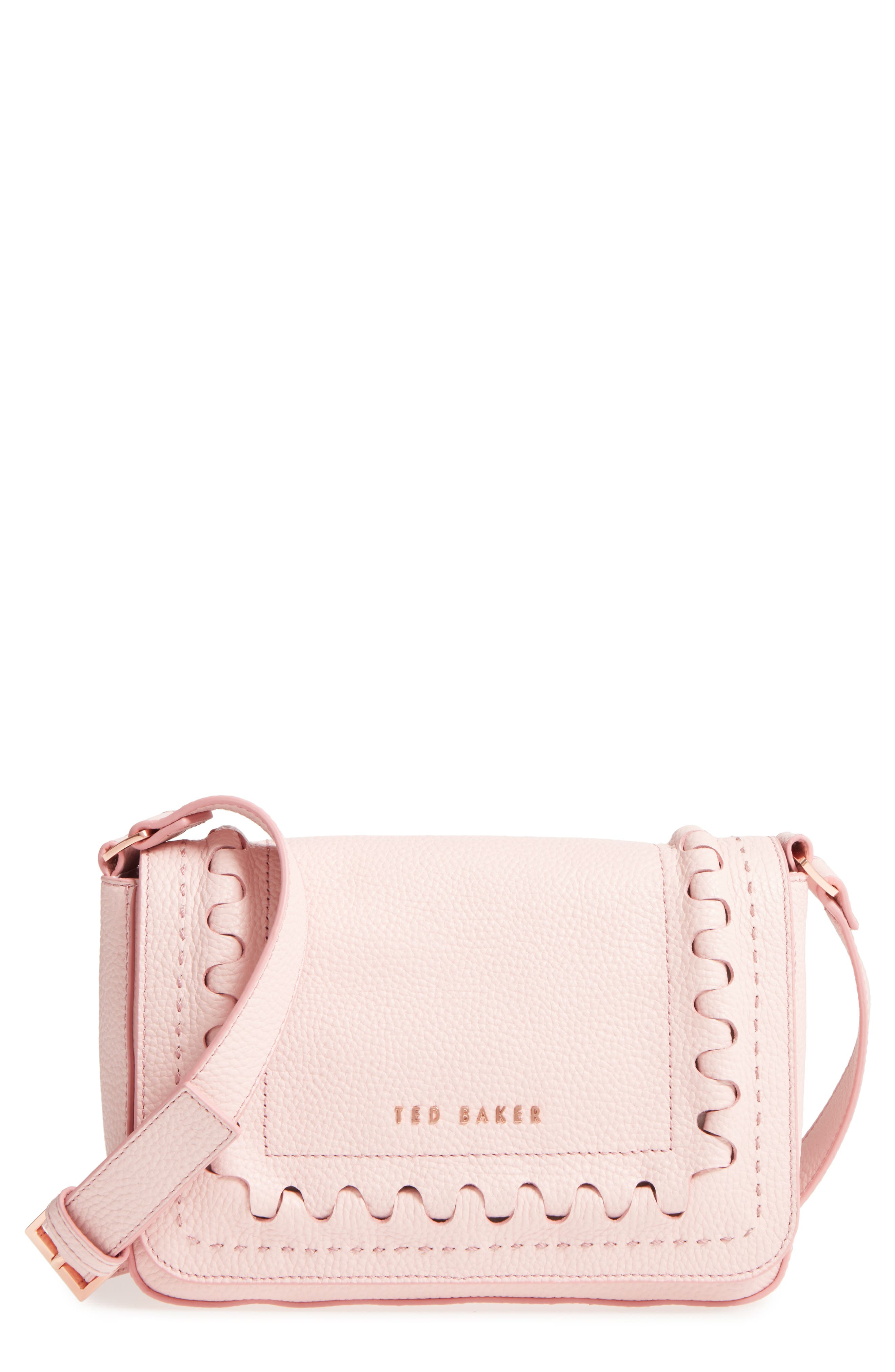 Tippi Leather Crossbody Bag,                             Main thumbnail 1, color,                             Light Pink