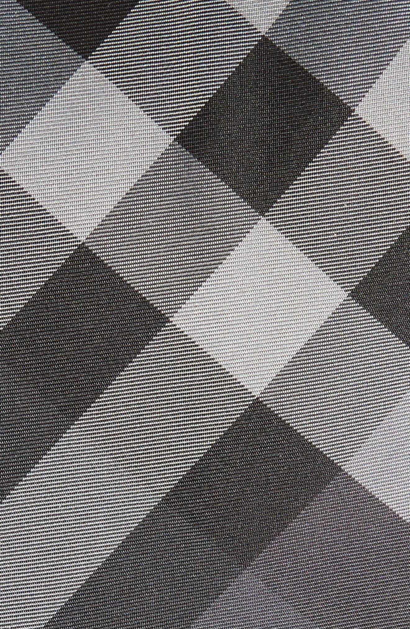 Manston Check Silk Tie,                             Alternate thumbnail 2, color,                             Charcoal Check
