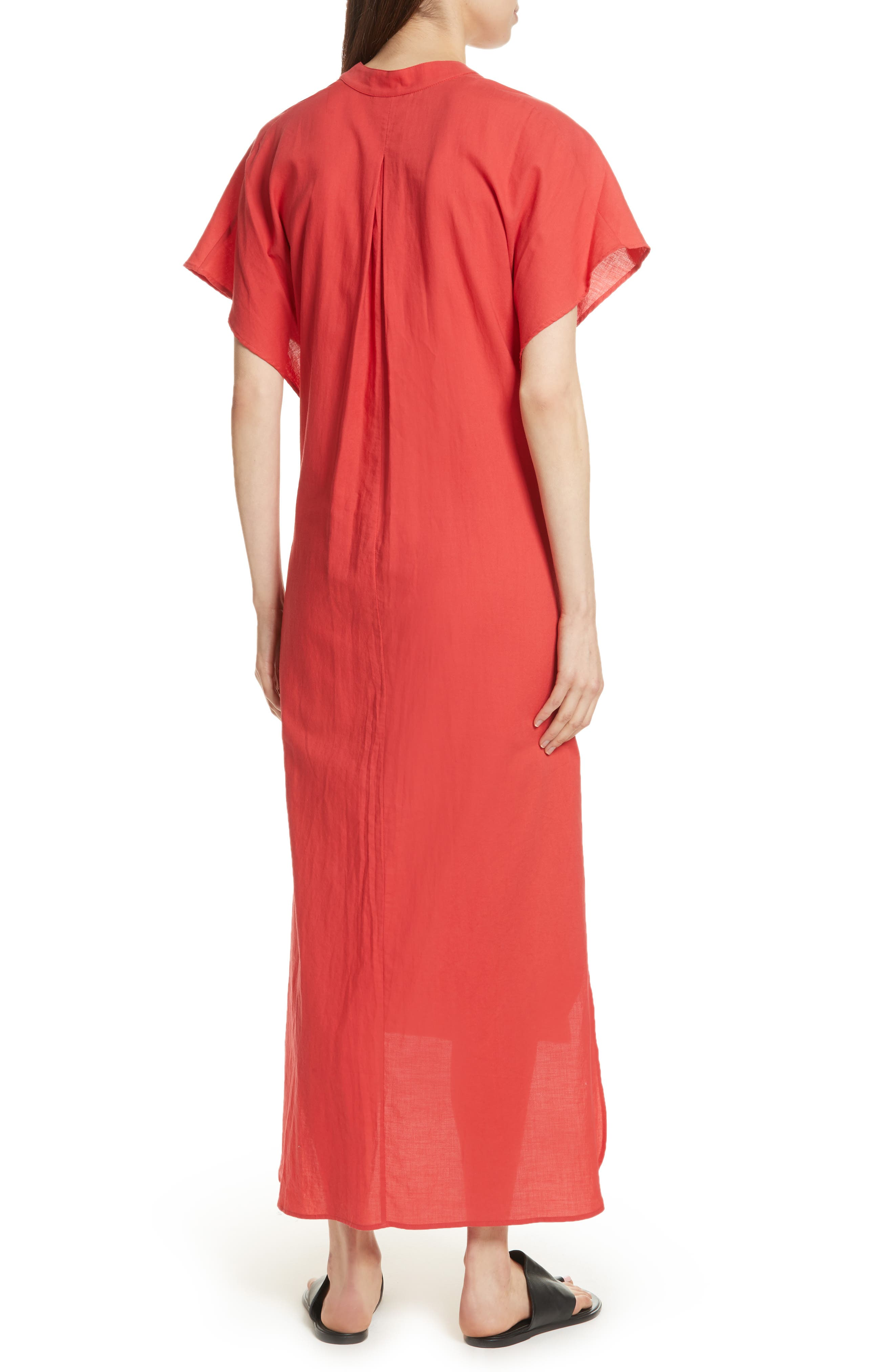 Wrap Front Maxi Dress,                             Alternate thumbnail 2, color,                             Poppy