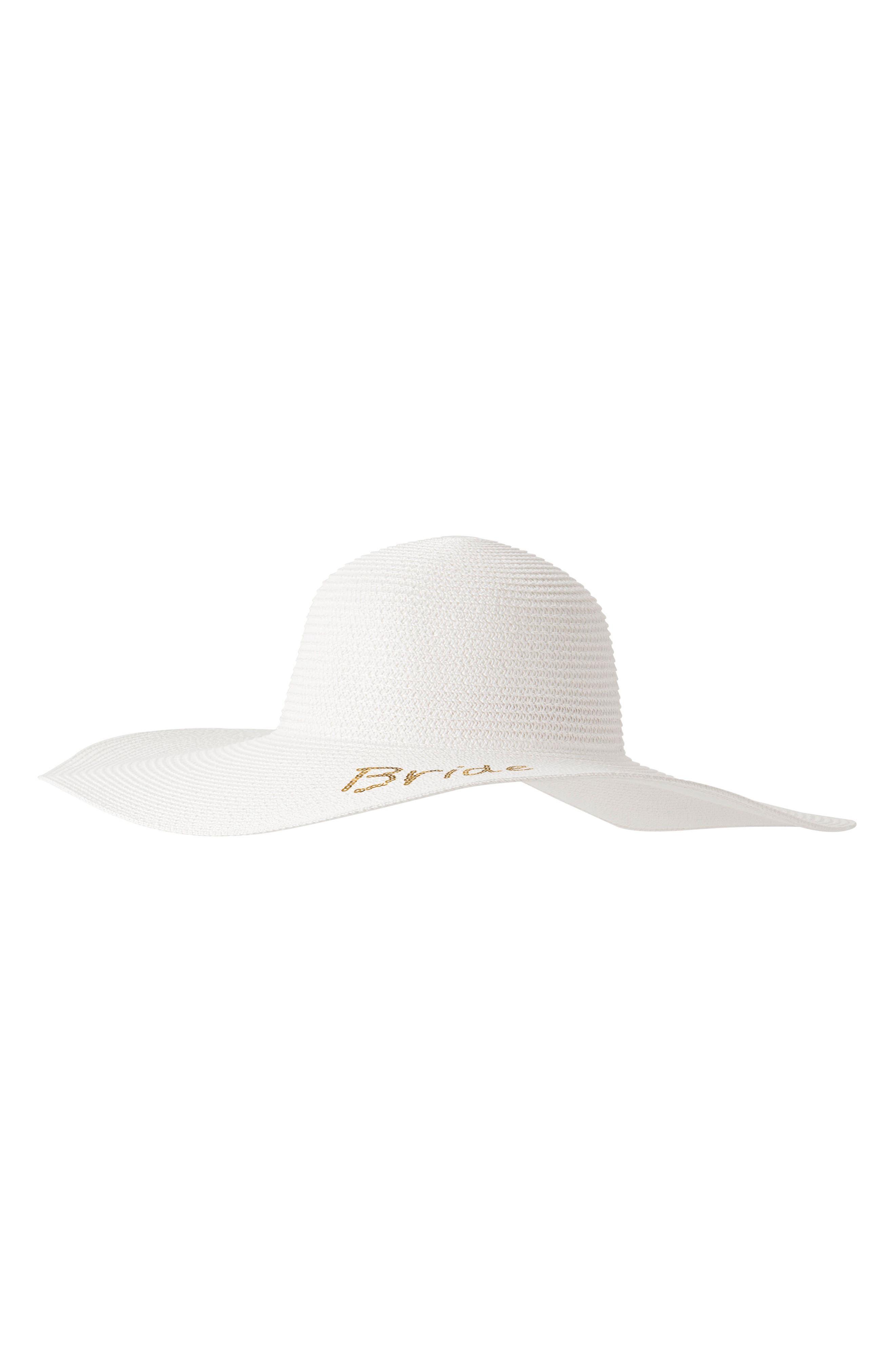 Bride Sequin Straw Hat,                             Alternate thumbnail 2, color,                             Gold