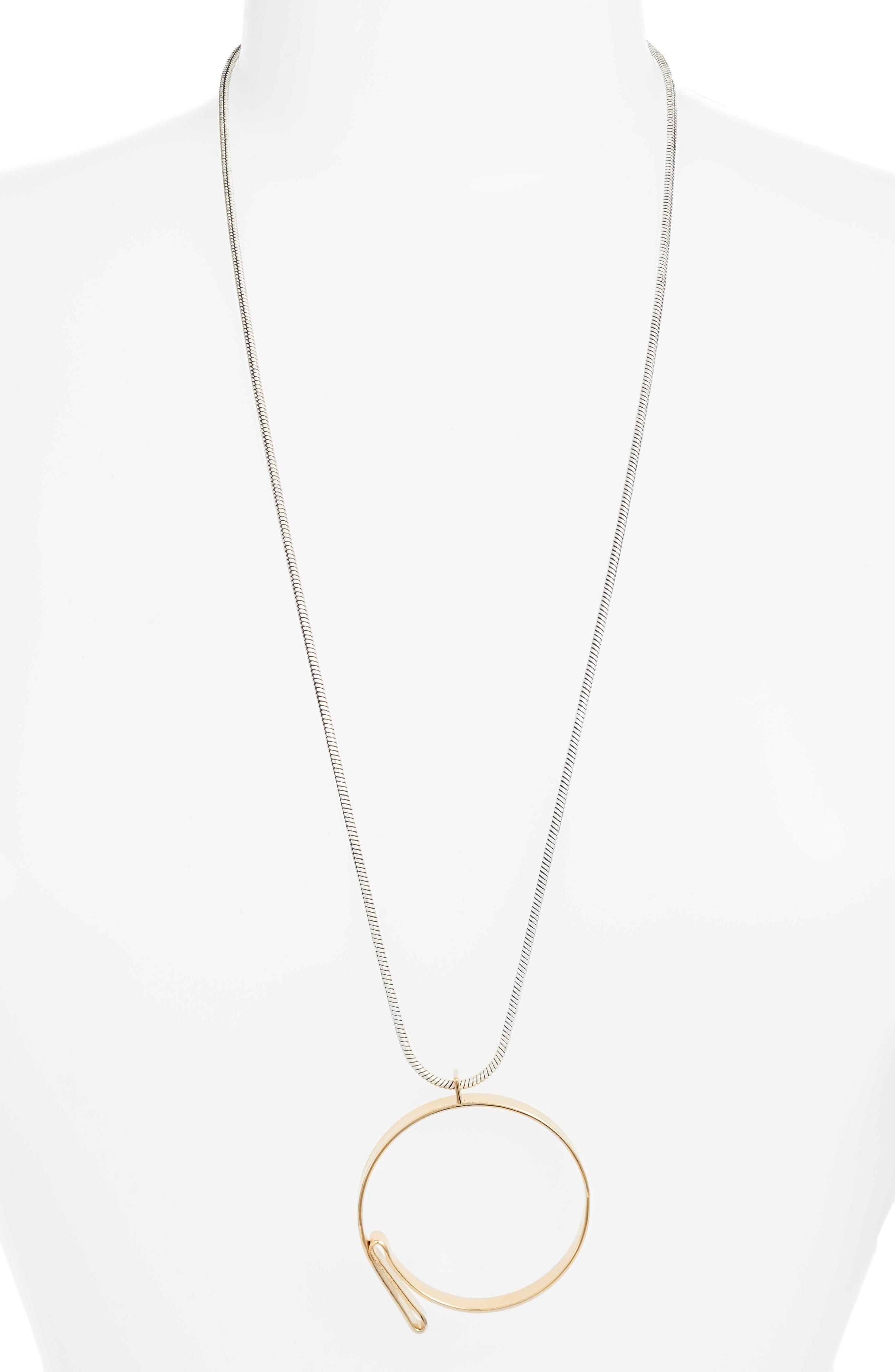 Serra Pendant Necklace,                             Main thumbnail 1, color,                             Gold/ Silver