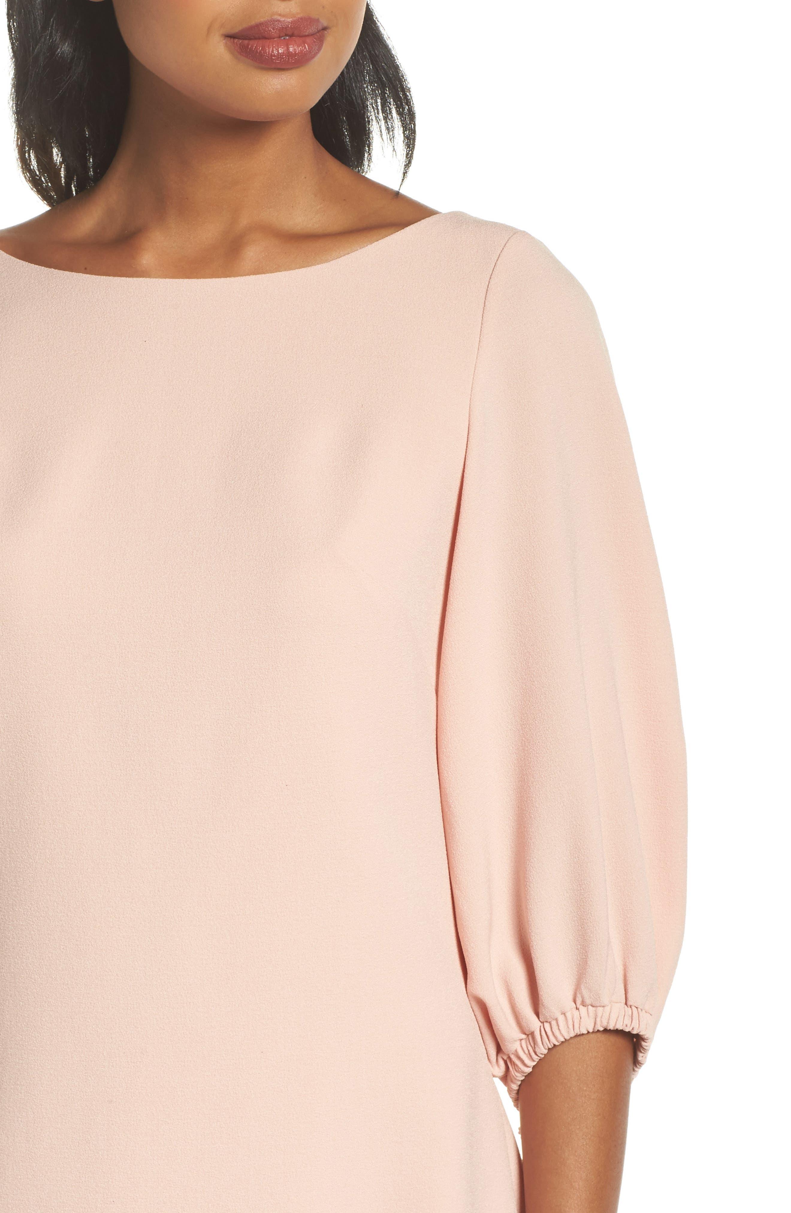 Bloused Sleeve Shift Dress,                             Alternate thumbnail 4, color,                             Blush