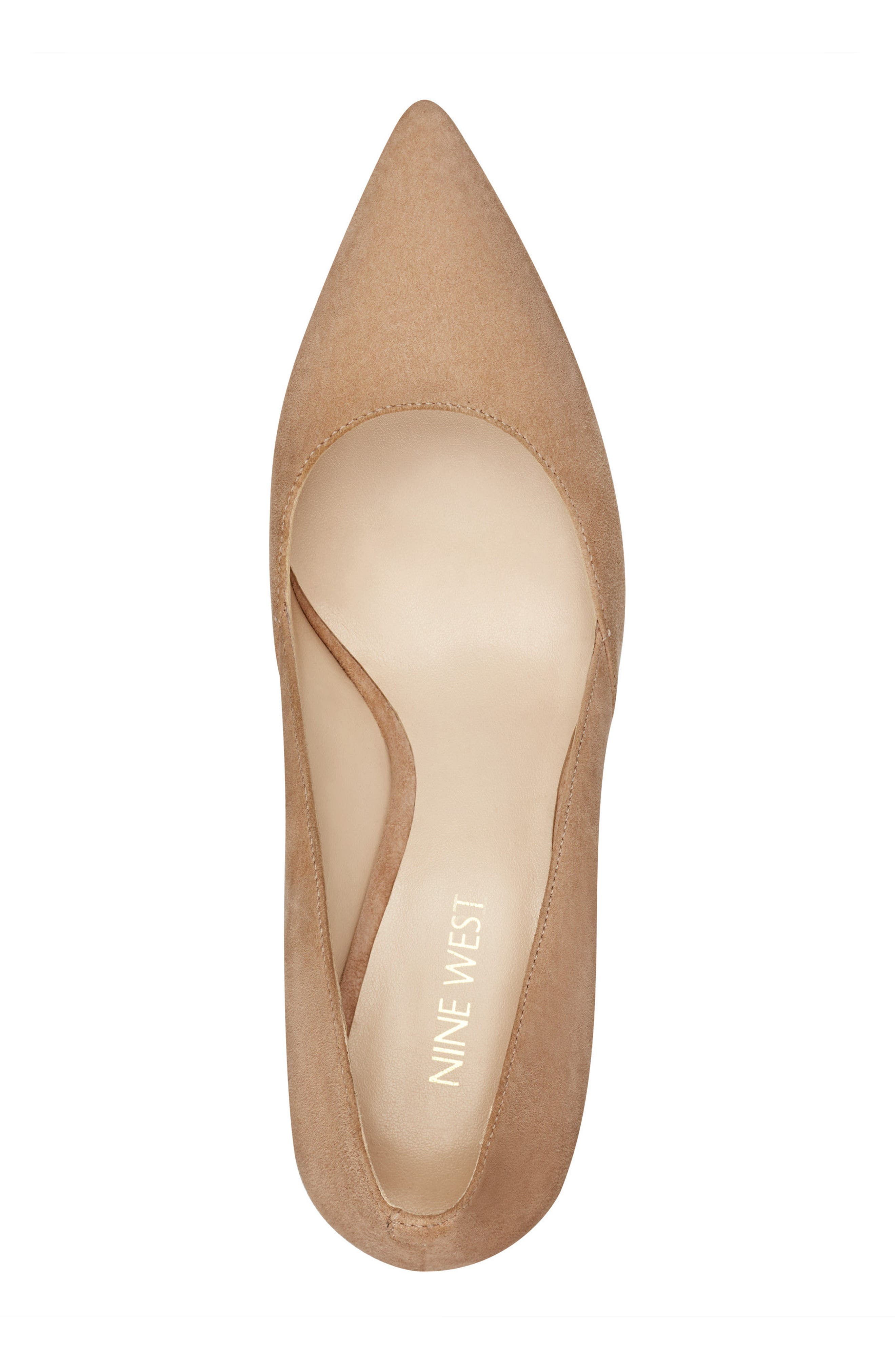Mine Pointy Toe Pump,                             Alternate thumbnail 5, color,                             Light Natural Suede