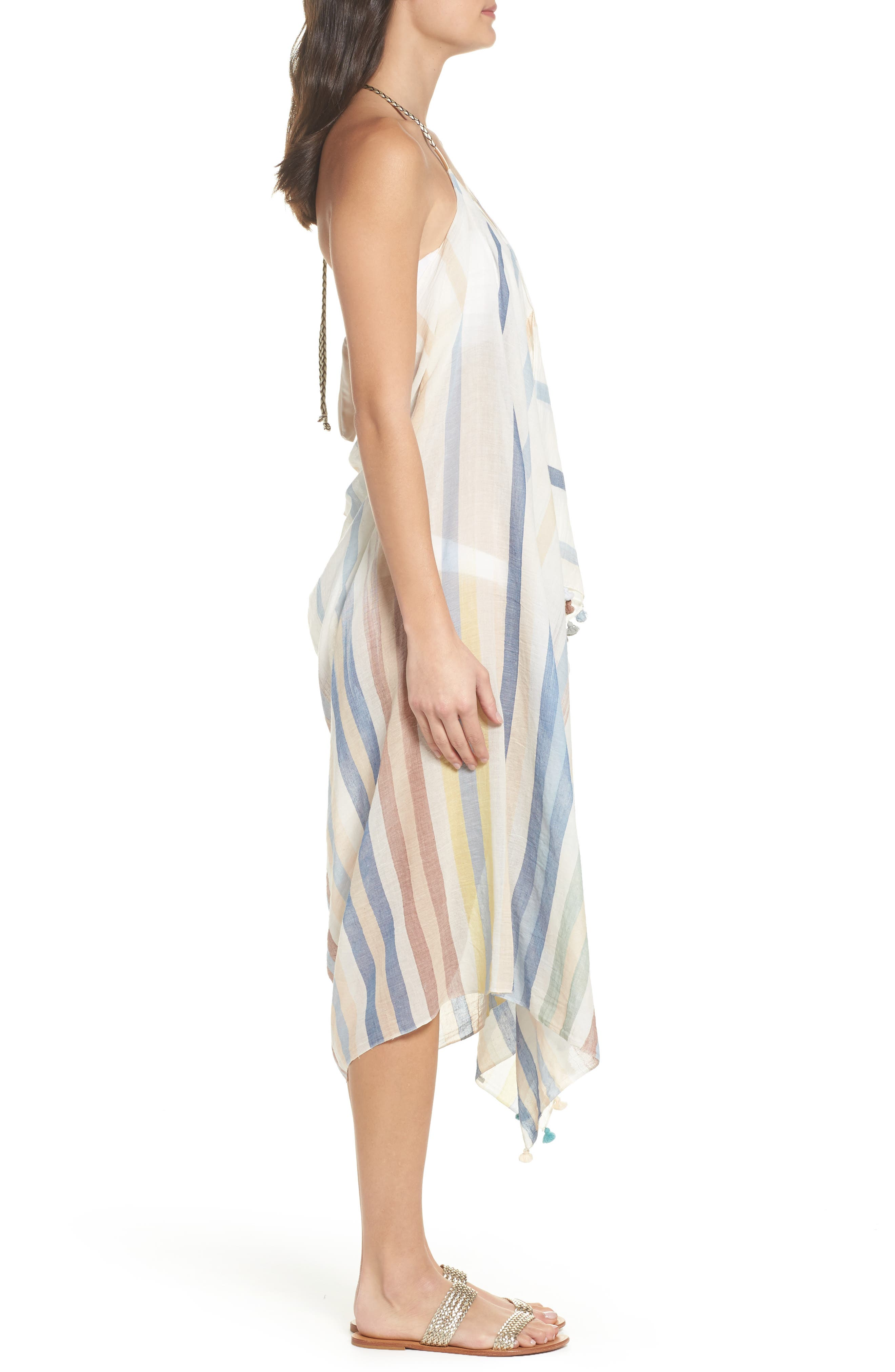 Pool Party Beach to Street Cover-Up Dress,                             Alternate thumbnail 6, color,                             Ocean