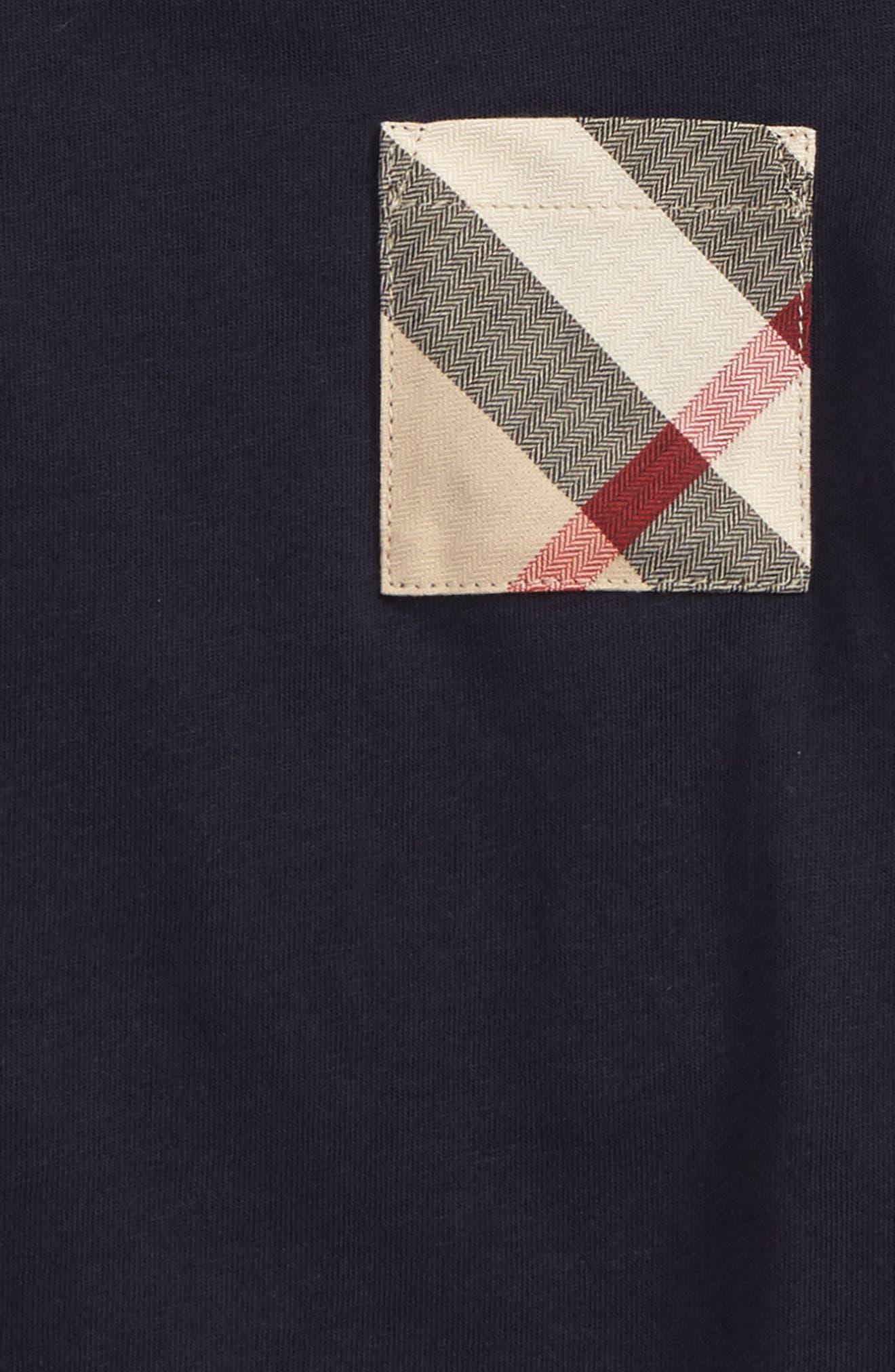Alternate Image 2  - Burberry Check Pocket T-Shirt (Baby Boys & Toddler Boys)
