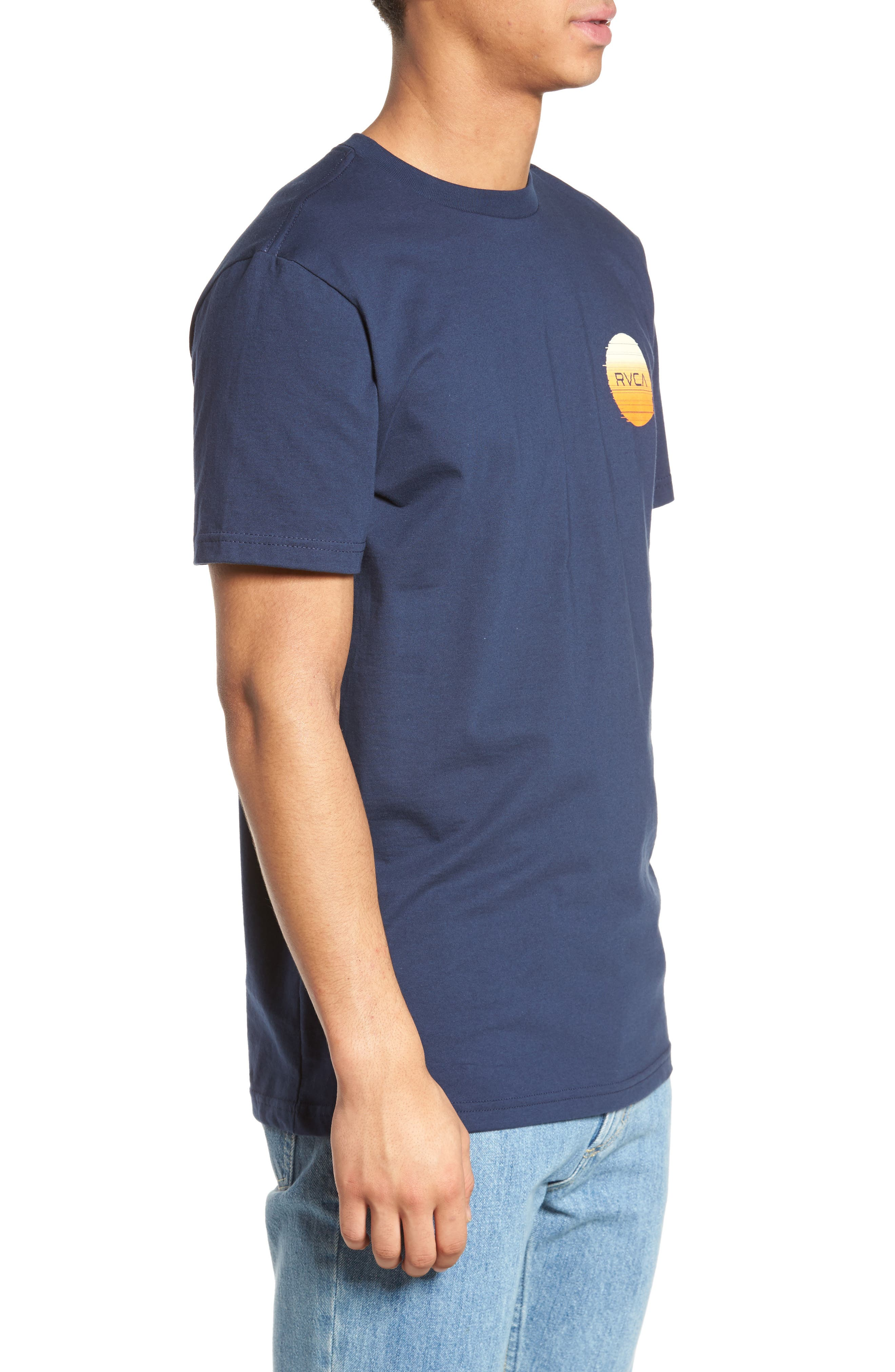 Glitch Motors T-Shirt,                             Alternate thumbnail 3, color,                             Federal Blue
