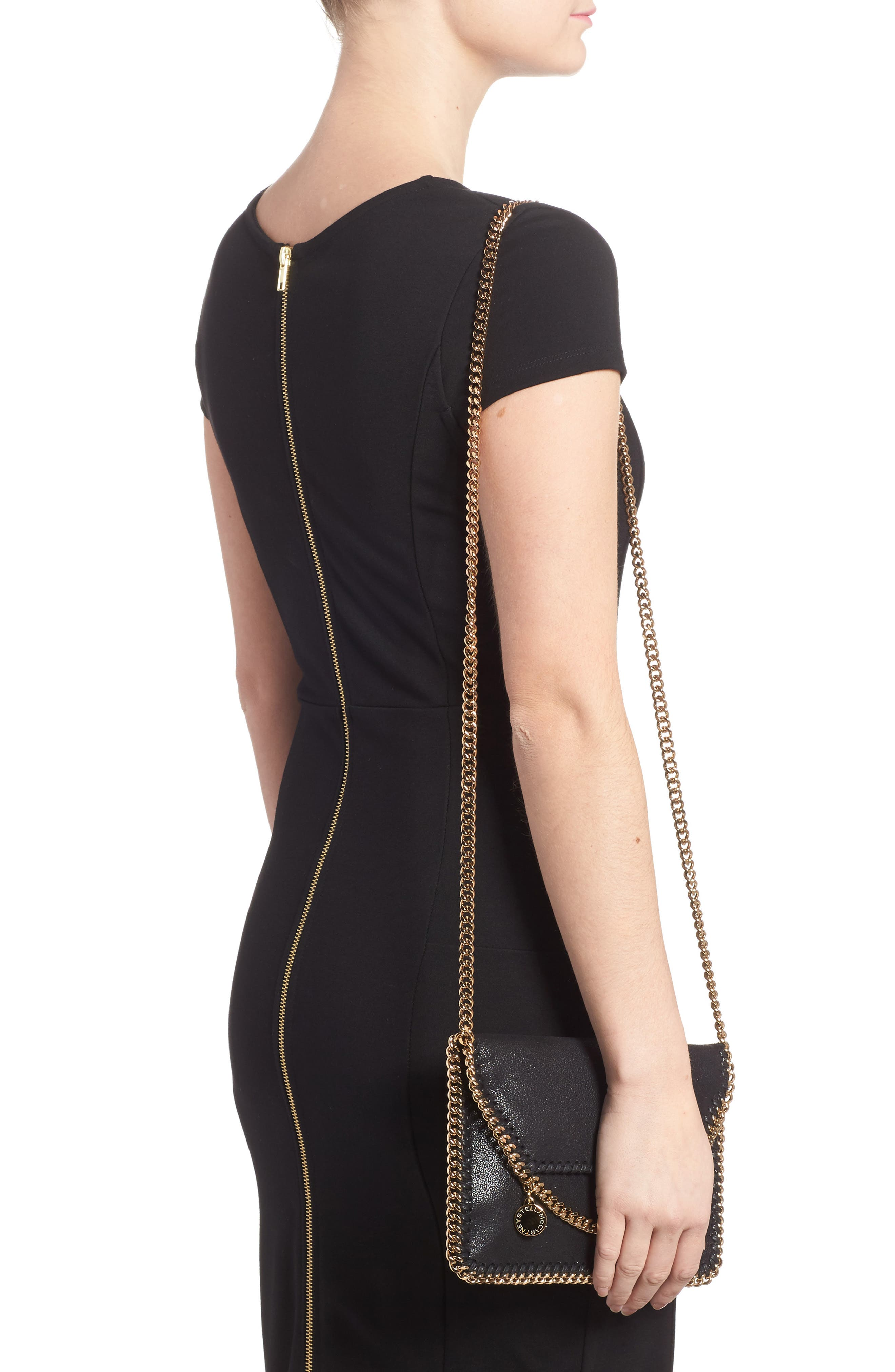 Alternate Image 2  - Stella McCartney Mini Falabella - Shaggy Deer Faux Leather Crossbody Bag