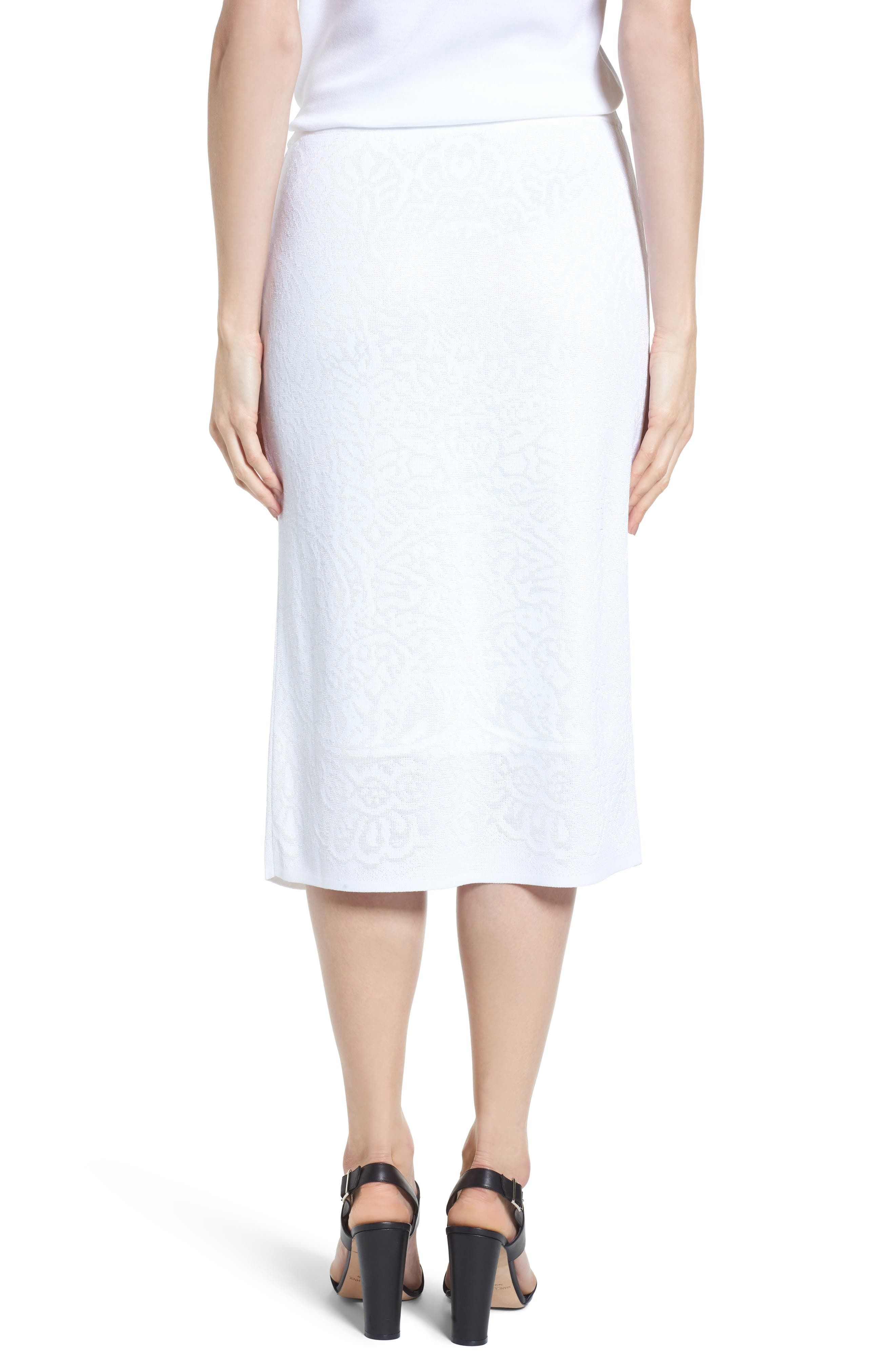 Alternate Image 2  - Ming Wang Jacquard Knit Straight Skirt