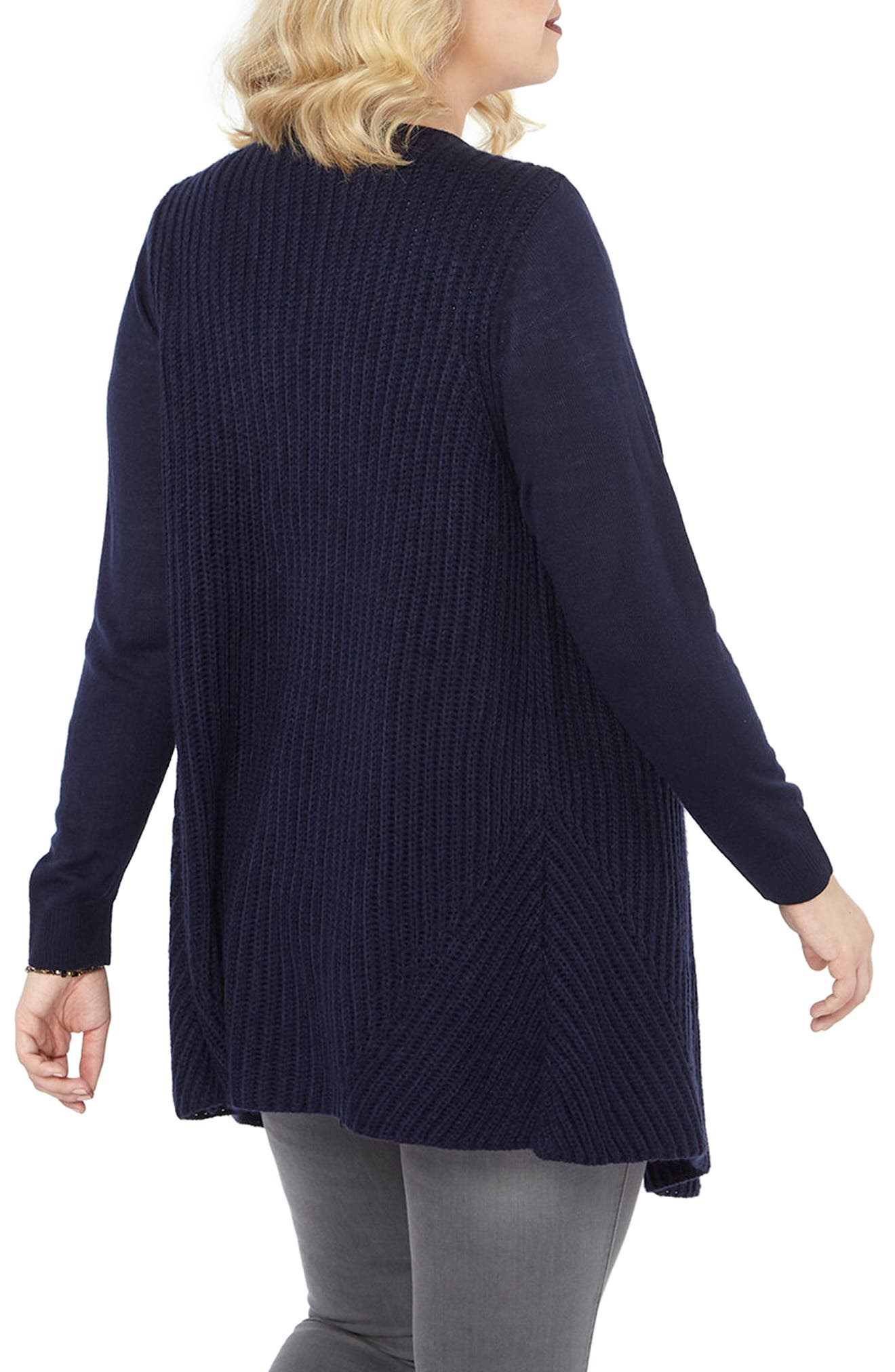 Alternate Image 3  - Evans Chunky Waterfall Cardigan (Plus Size)