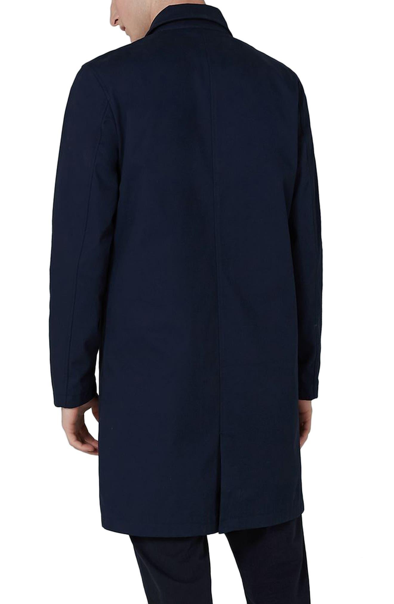 Single Breasted Topcoat,                             Alternate thumbnail 2, color,                             Dark Blue