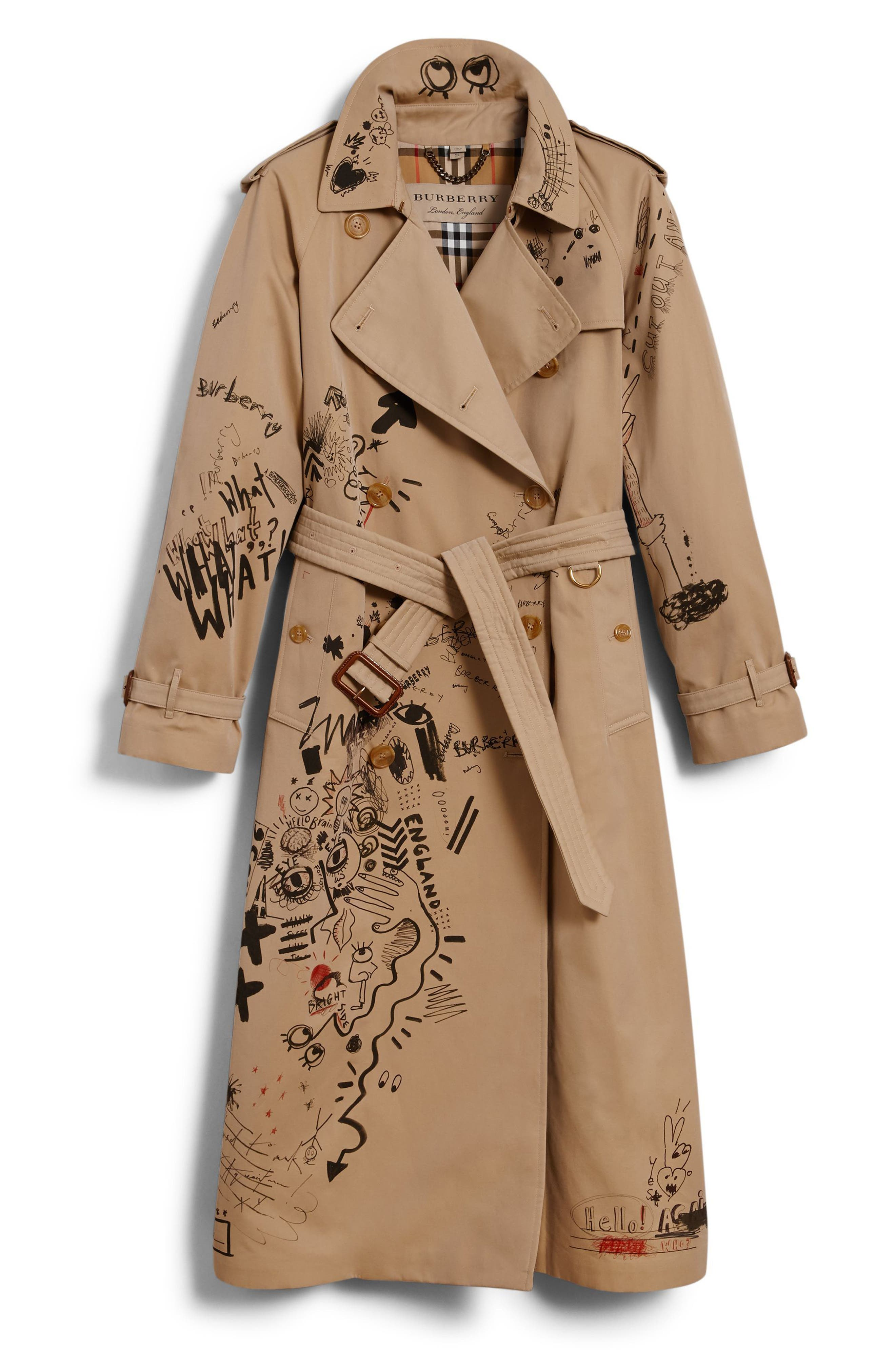 Eastheath Embellished Trench Coat,                             Alternate thumbnail 6, color,                             Honey