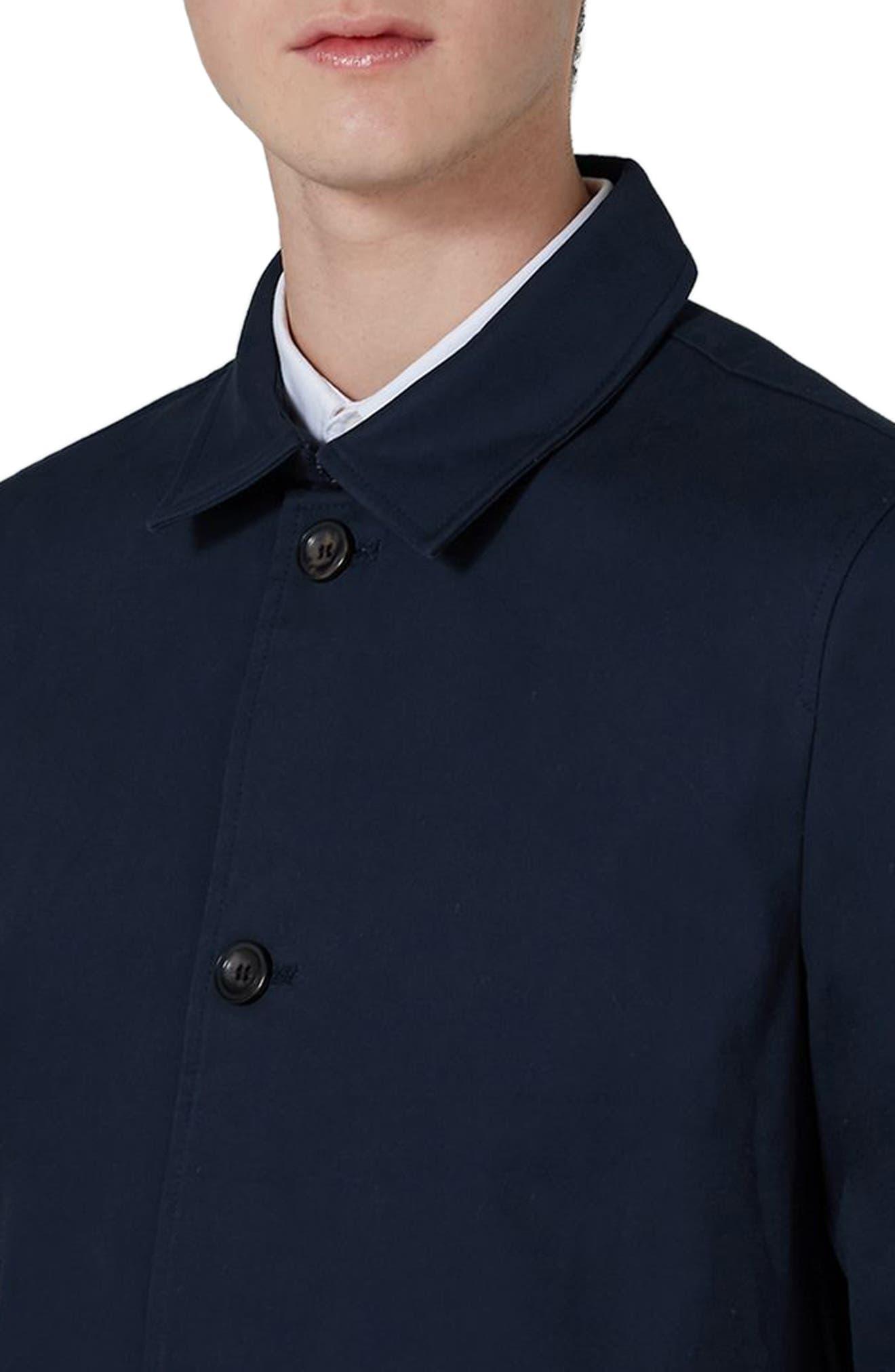 Single Breasted Topcoat,                             Alternate thumbnail 3, color,                             Dark Blue