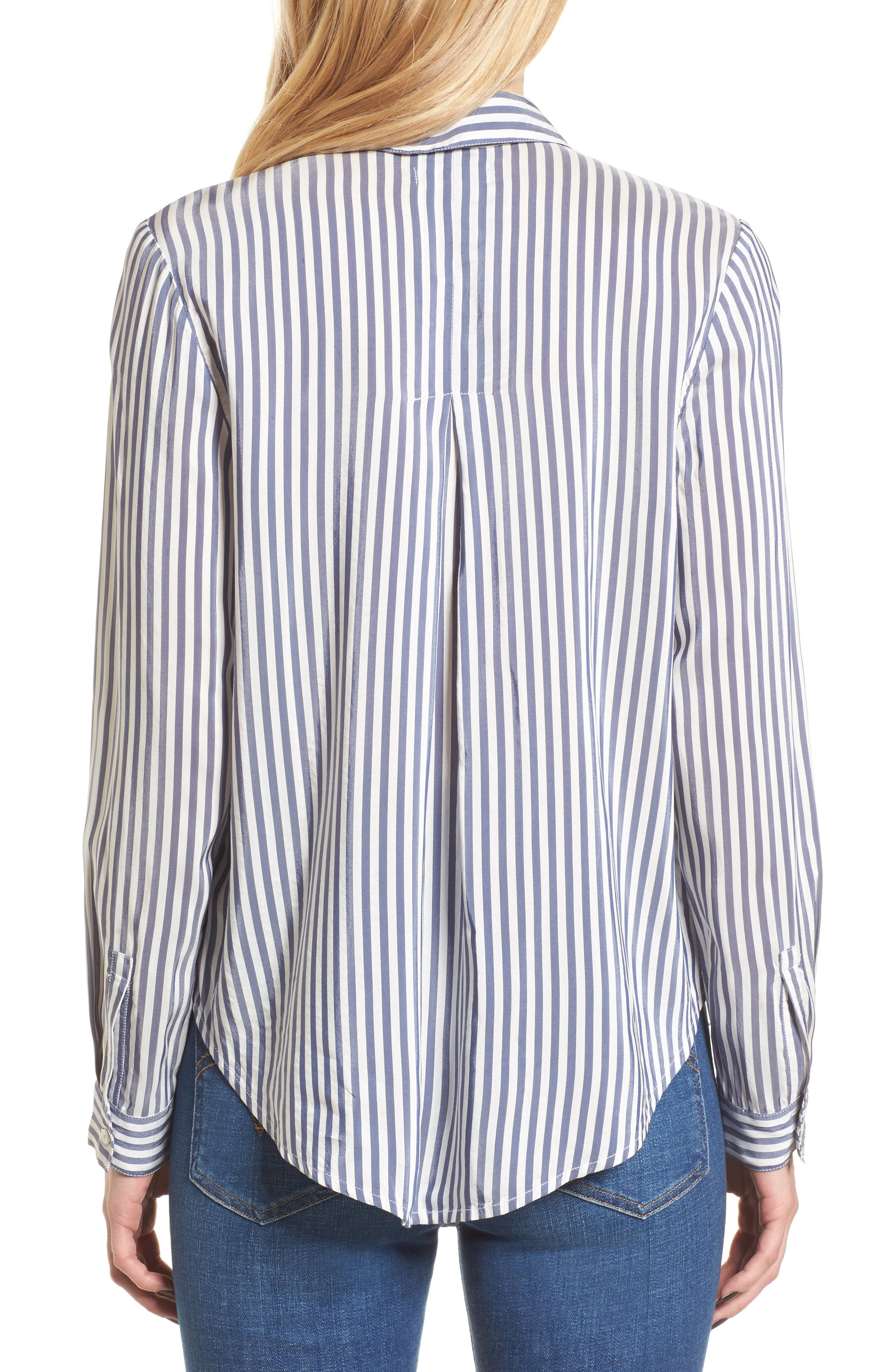Stripe Shirt,                             Alternate thumbnail 2, color,                             Navy Evening Lucca Stripe