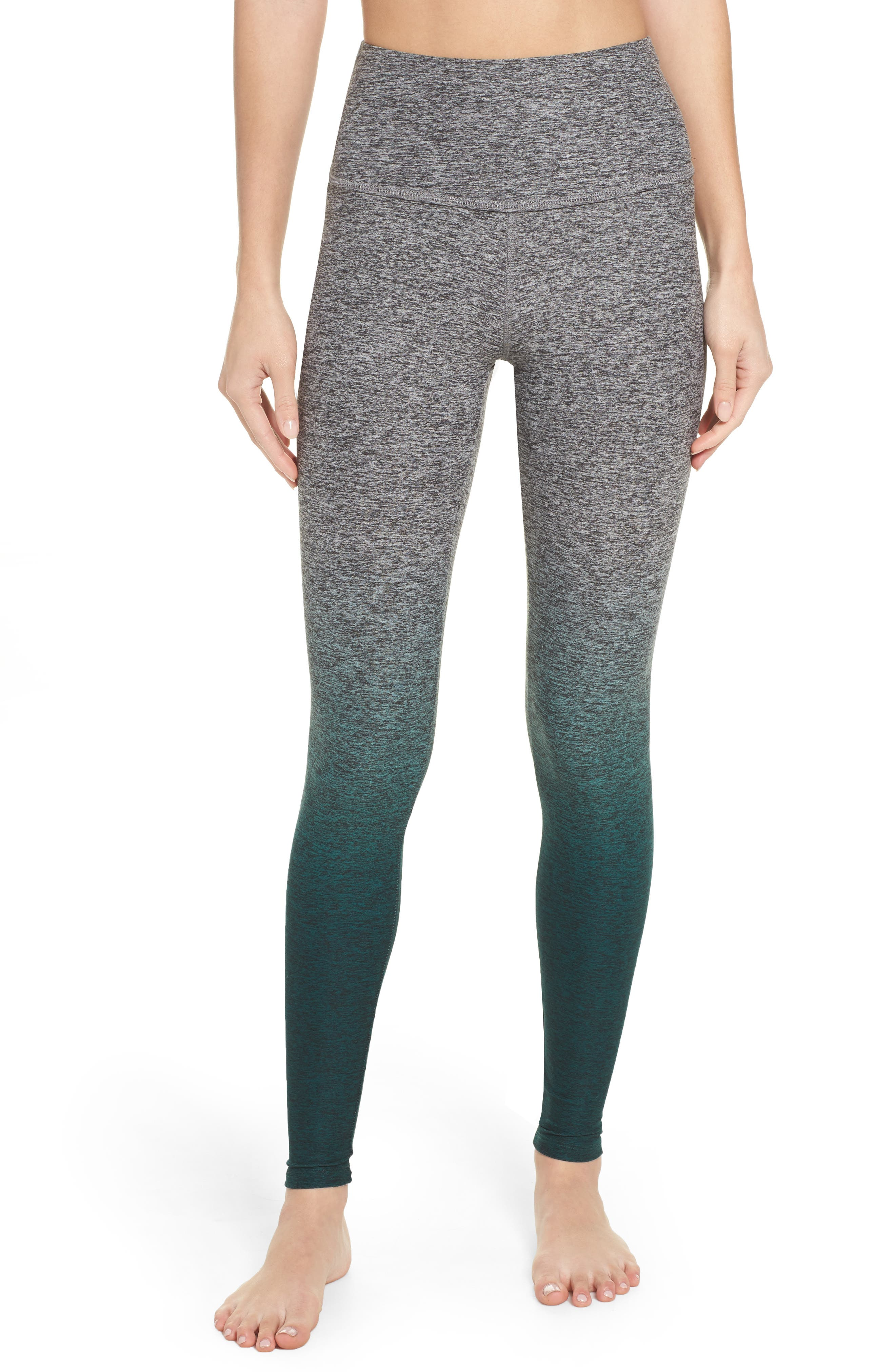 Space Dye High Waist Leggings,                         Main,                         color, Woodland Forest Ombre