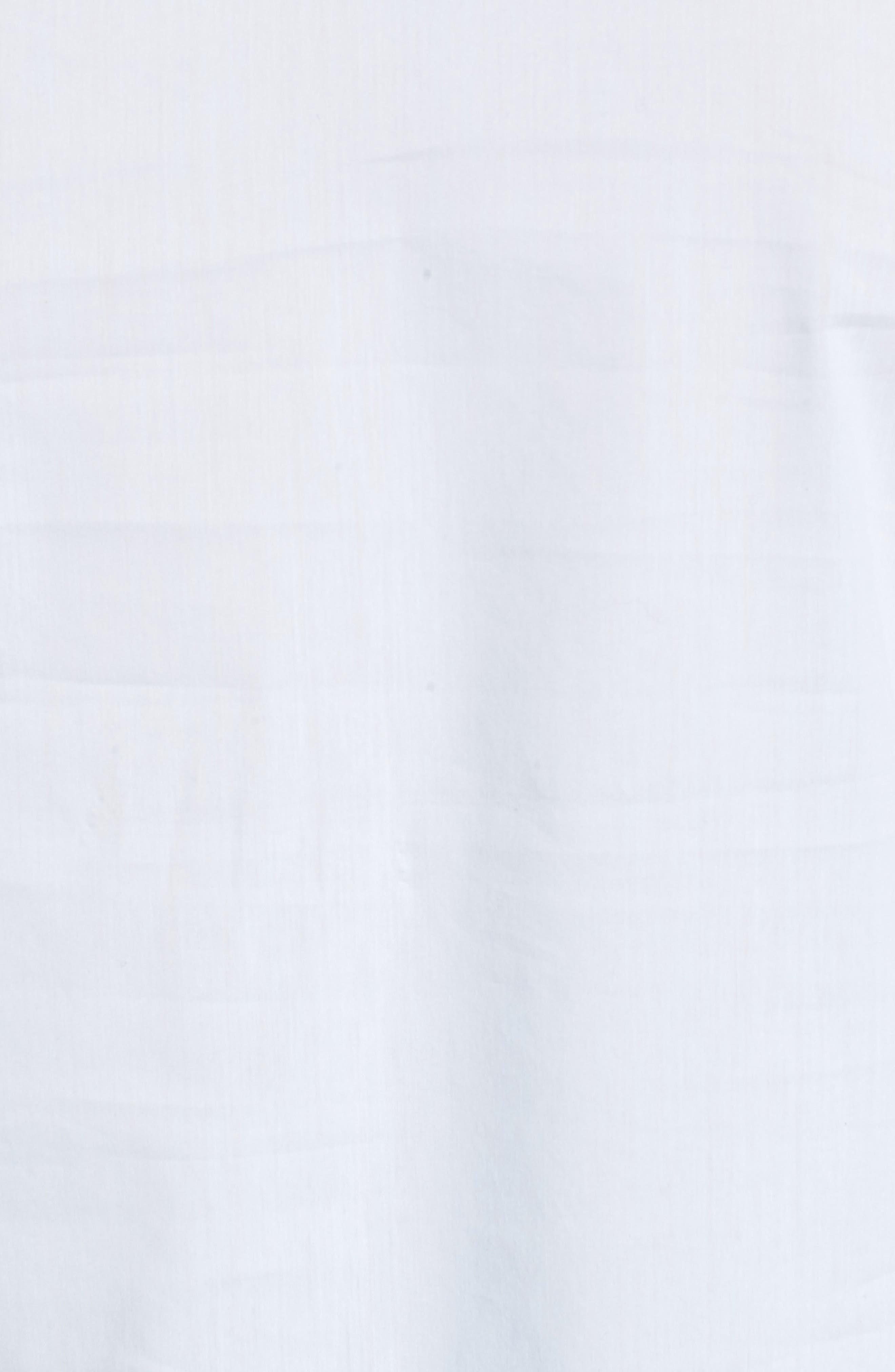 Ruffle Sleeve Poplin Blouse,                             Alternate thumbnail 5, color,                             Blue Feather