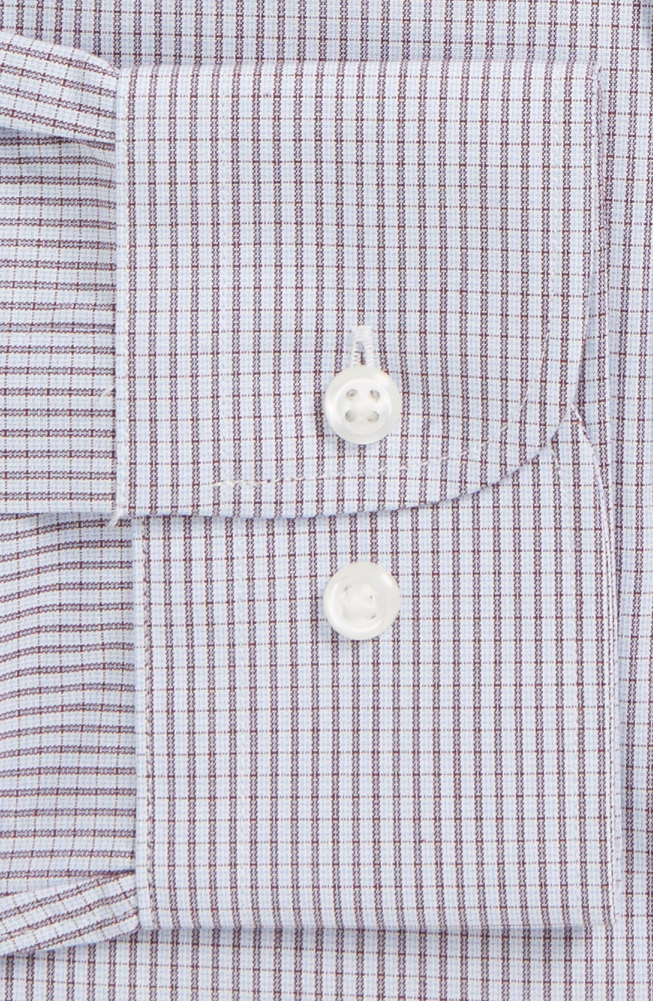 Traditional Fit Non-Iron Check Dress Shirt,                             Alternate thumbnail 5, color,                             Burgundy Royale