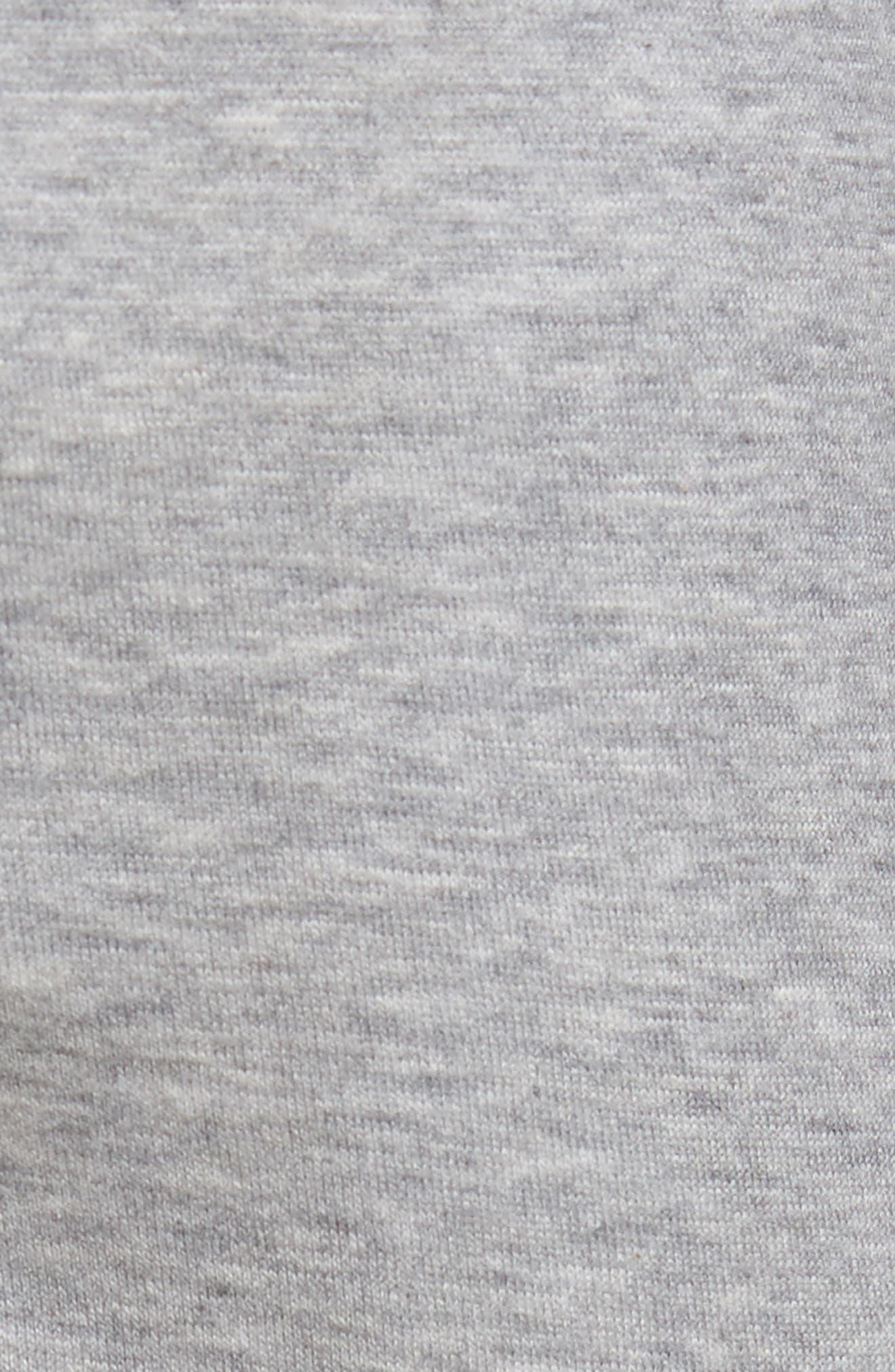 Drawstring Knit Shorts,                             Alternate thumbnail 5, color,                             Light Grey