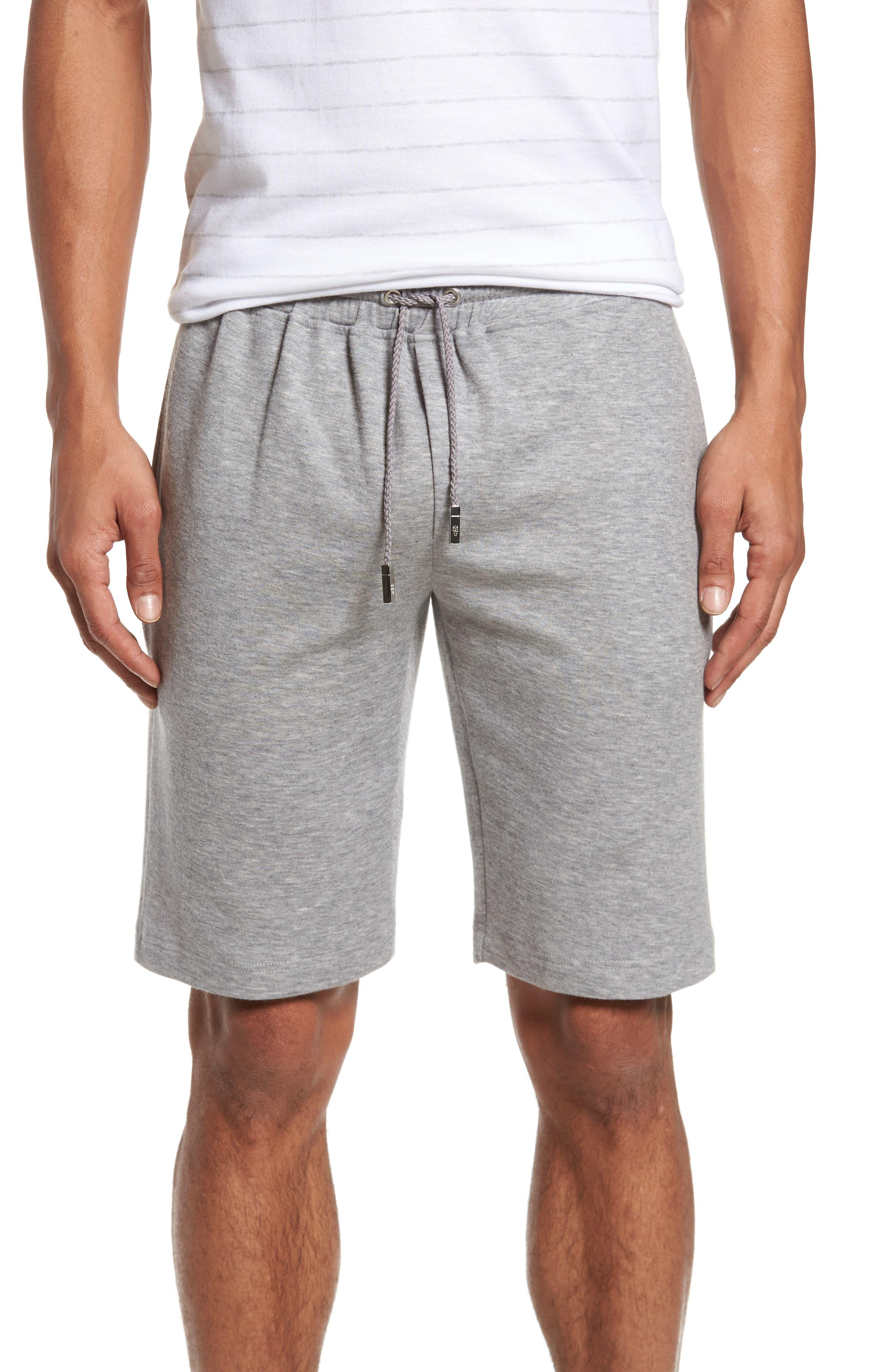 Drawstring Knit Shorts,                             Main thumbnail 1, color,                             Light Grey