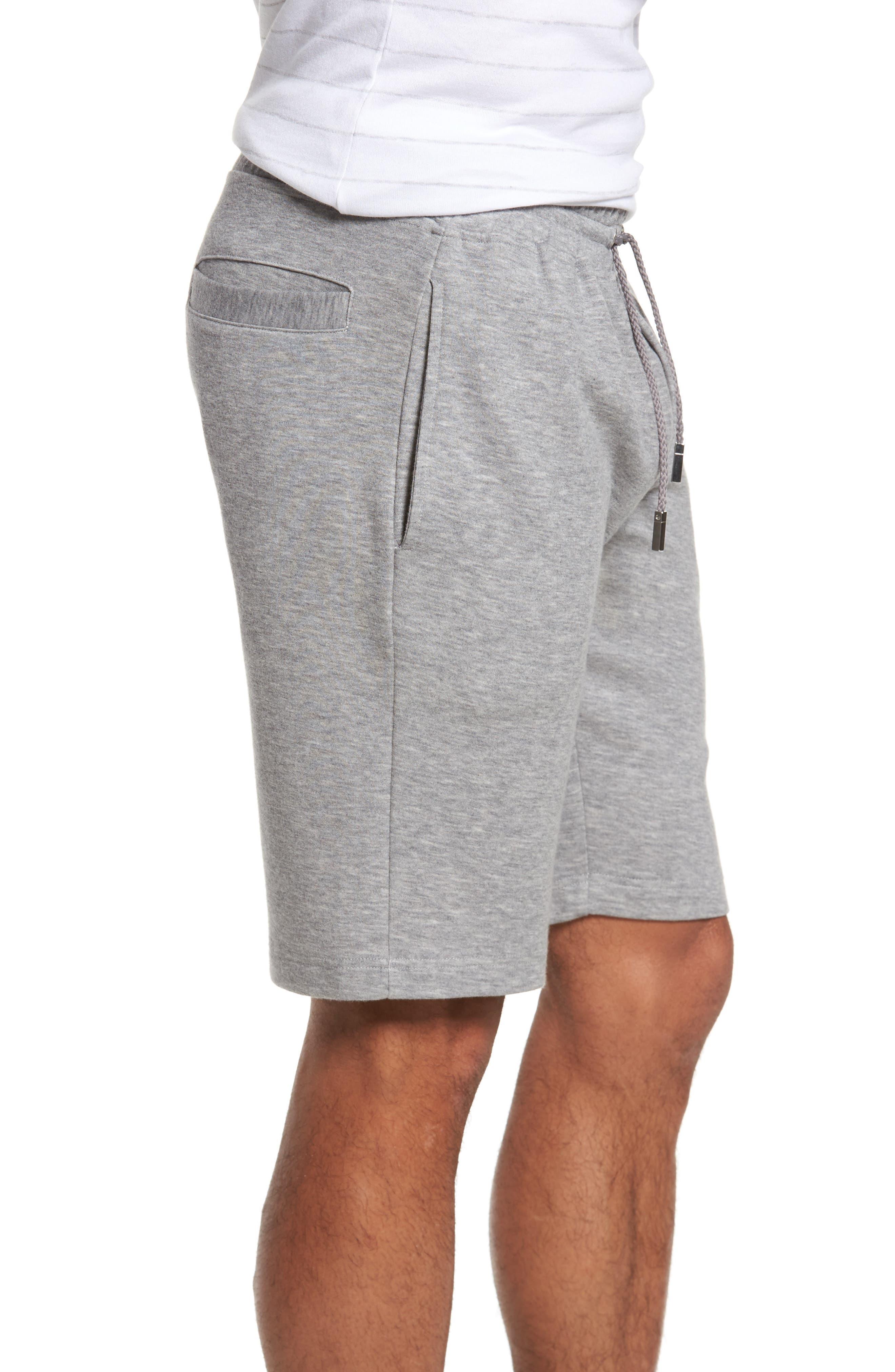 Drawstring Knit Shorts,                             Alternate thumbnail 3, color,                             Light Grey