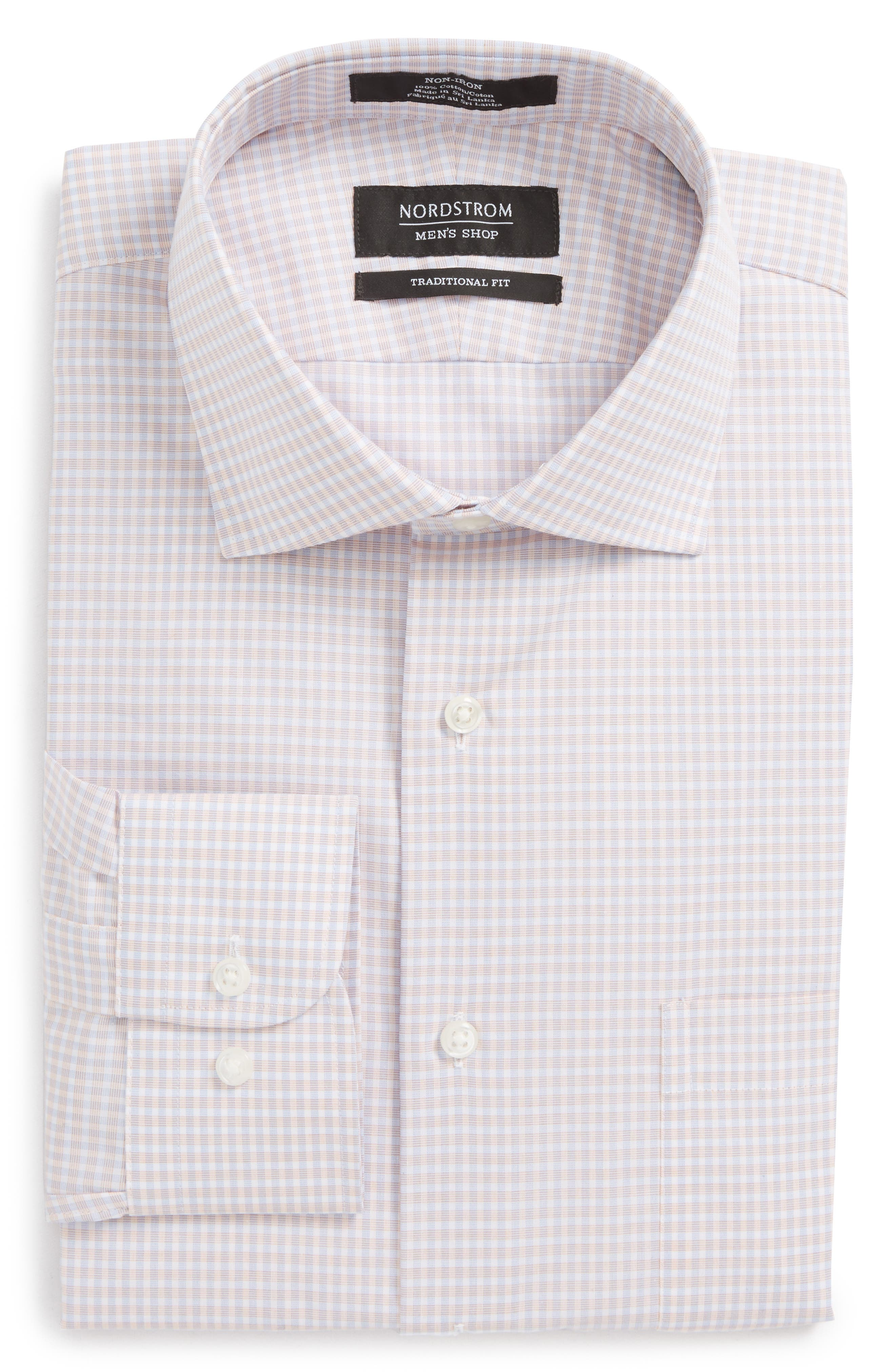 Alternate Image 6  - Nordstrom Men's Shop Traditional Fit Non-Iron Check Dress Shirt