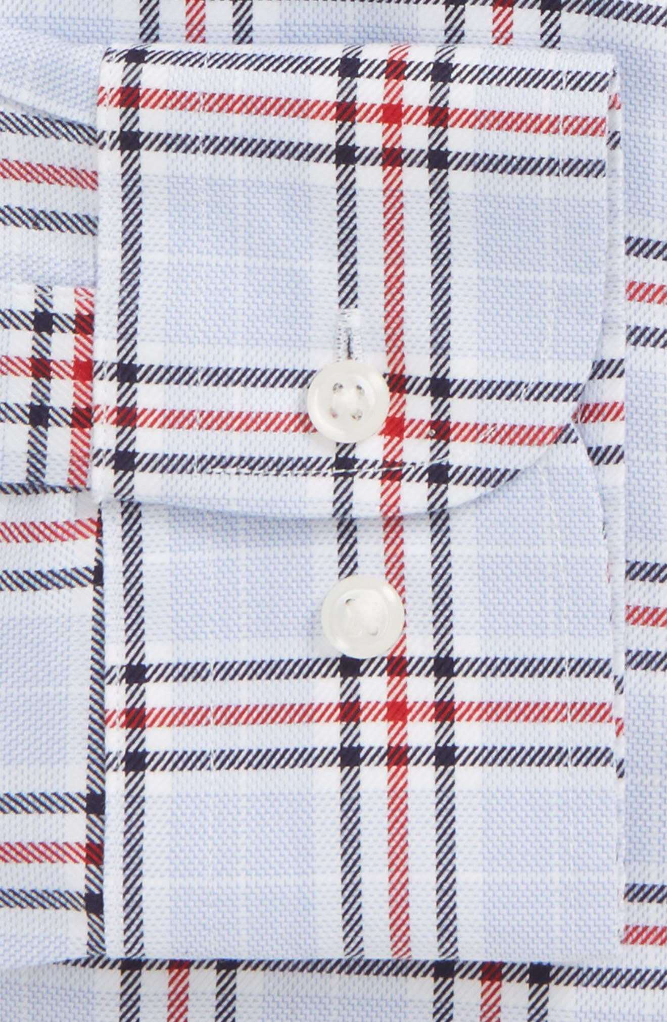 Alternate Image 5  - Nordstrom Men's Shop Smartcare™ Trim Fit Plaid Dress Shirt