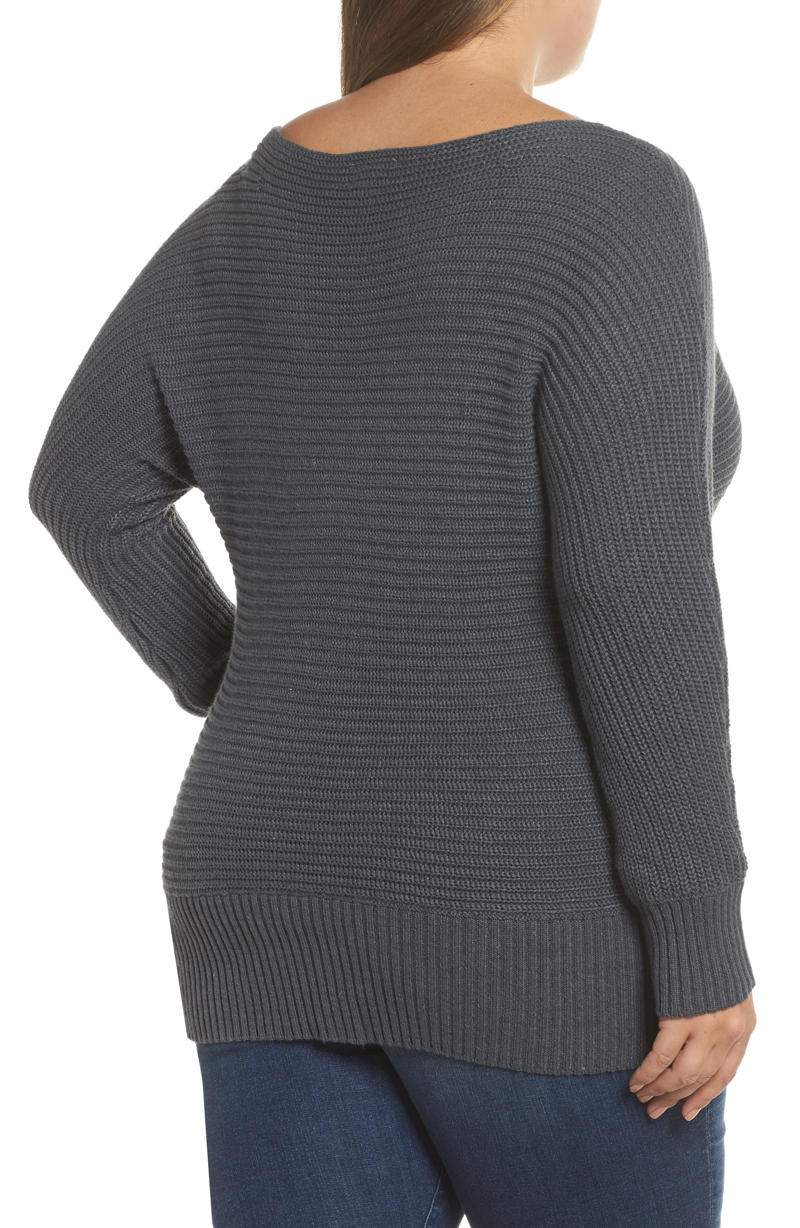 Off the Shoulder Sweater,                             Alternate thumbnail 2, color,                             Storm Grey
