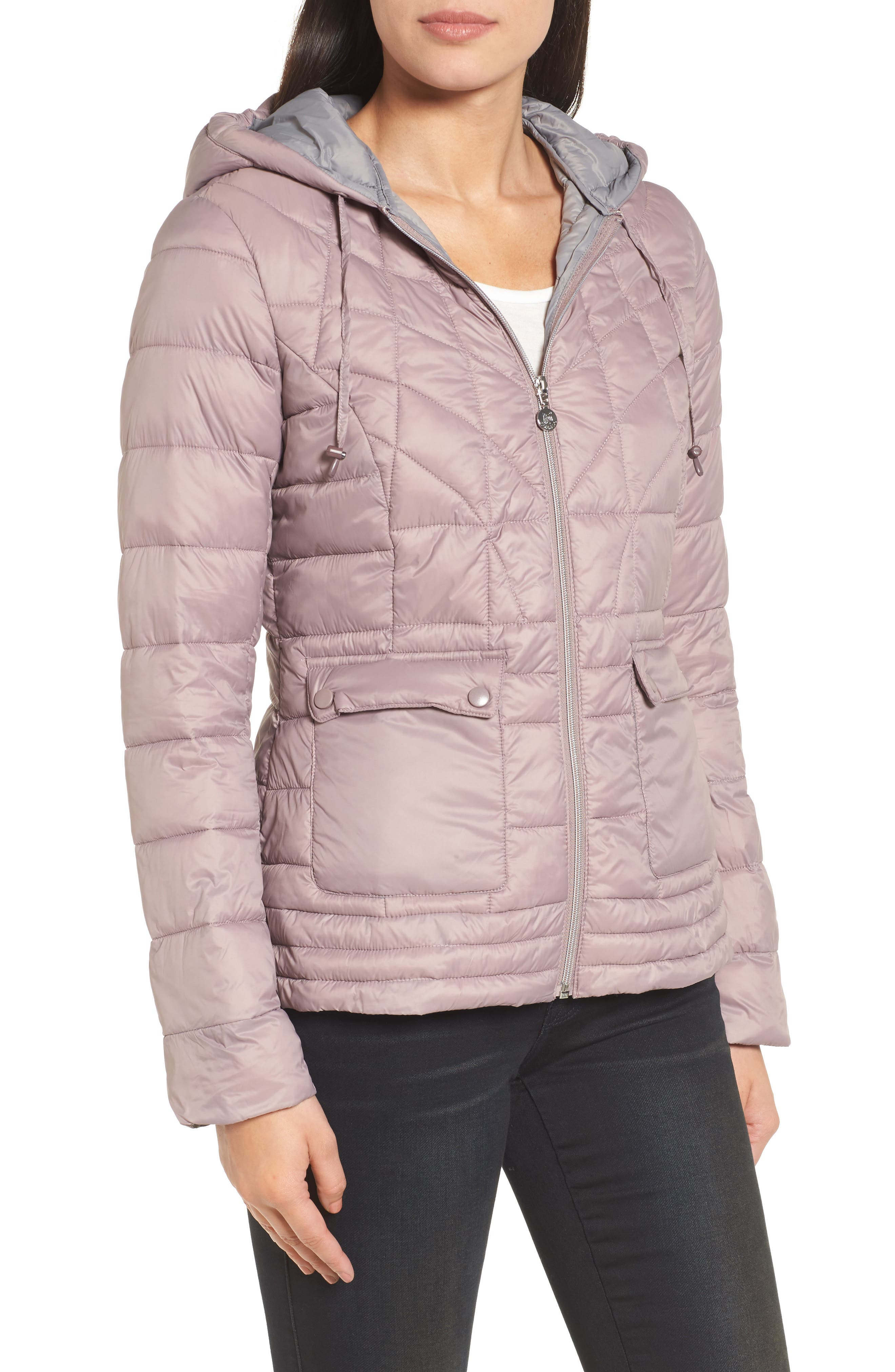 Water-Resistant PrimaLoft<sup>®</sup> Insulated Jacket,                             Alternate thumbnail 4, color,                             Rosa