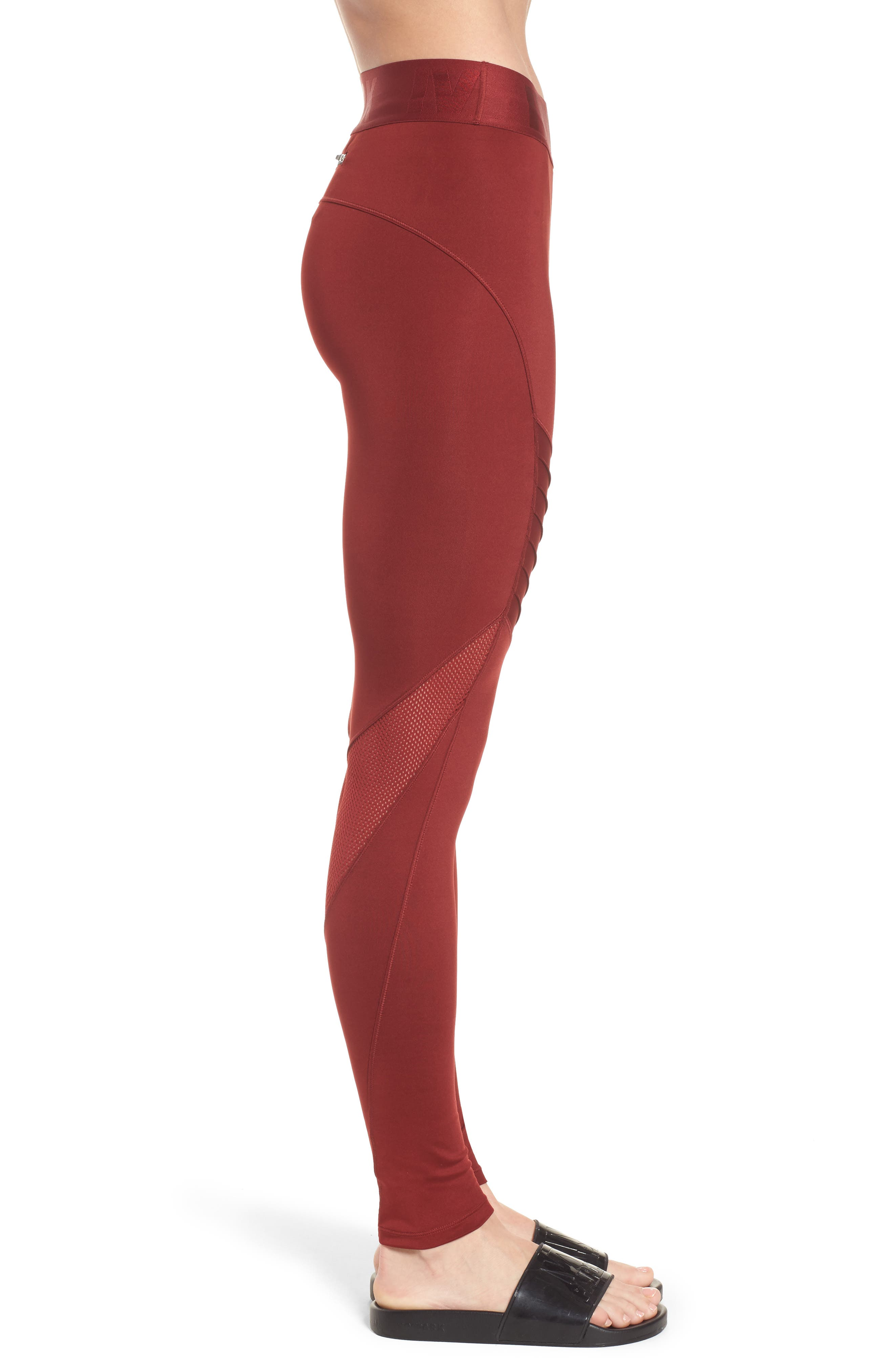 Pintuck Leggings,                             Alternate thumbnail 6, color,                             Russet