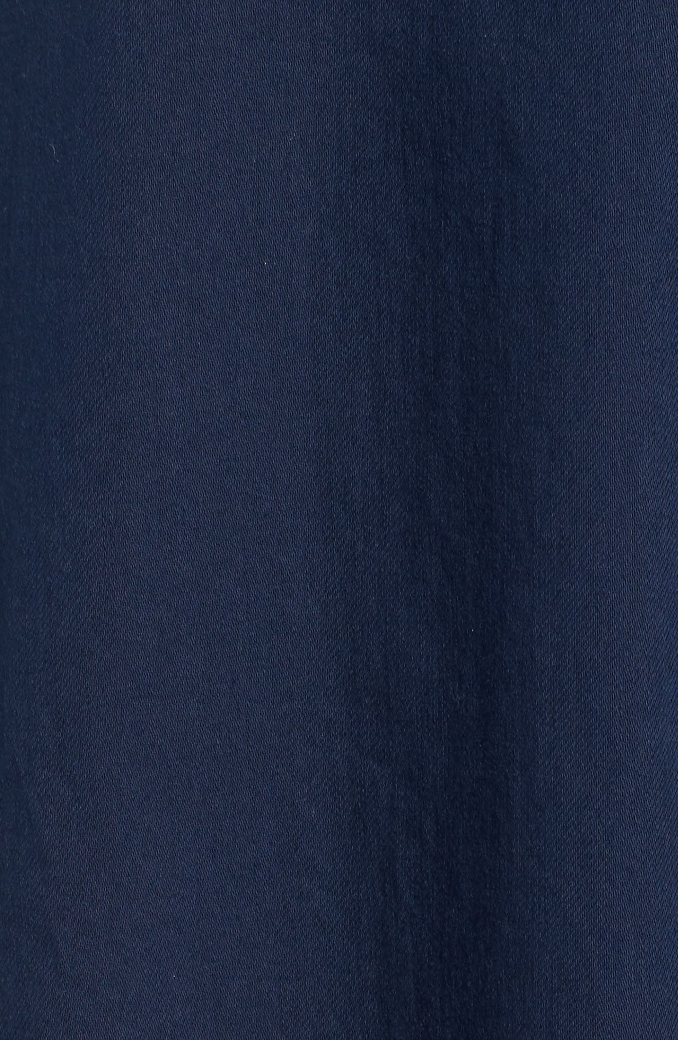 Cotton Twill Shirtdress,                             Alternate thumbnail 5, color,                             Midnight
