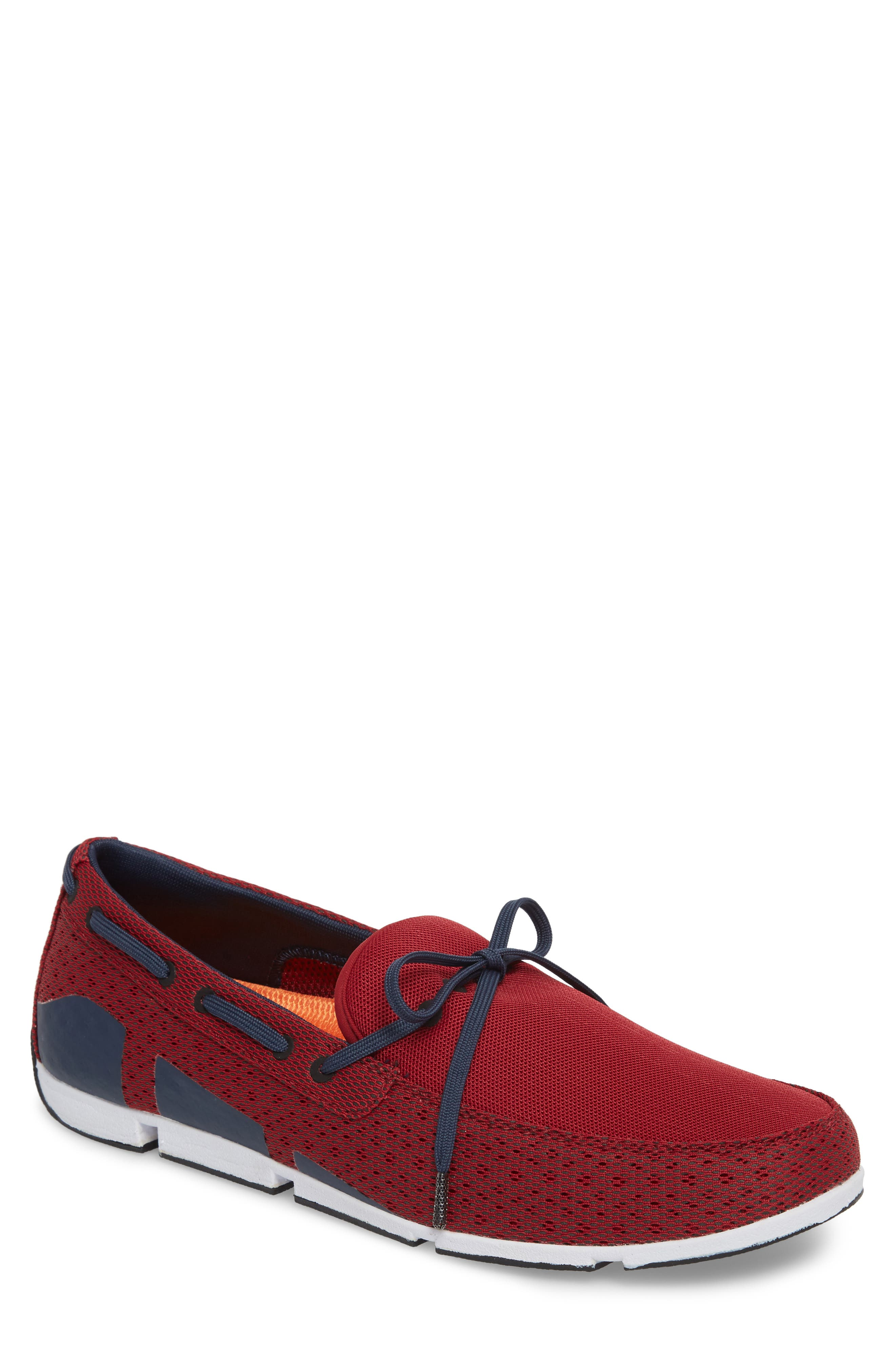Breeze Loafer,                             Main thumbnail 1, color,                             Deep Red/ Navy/ White