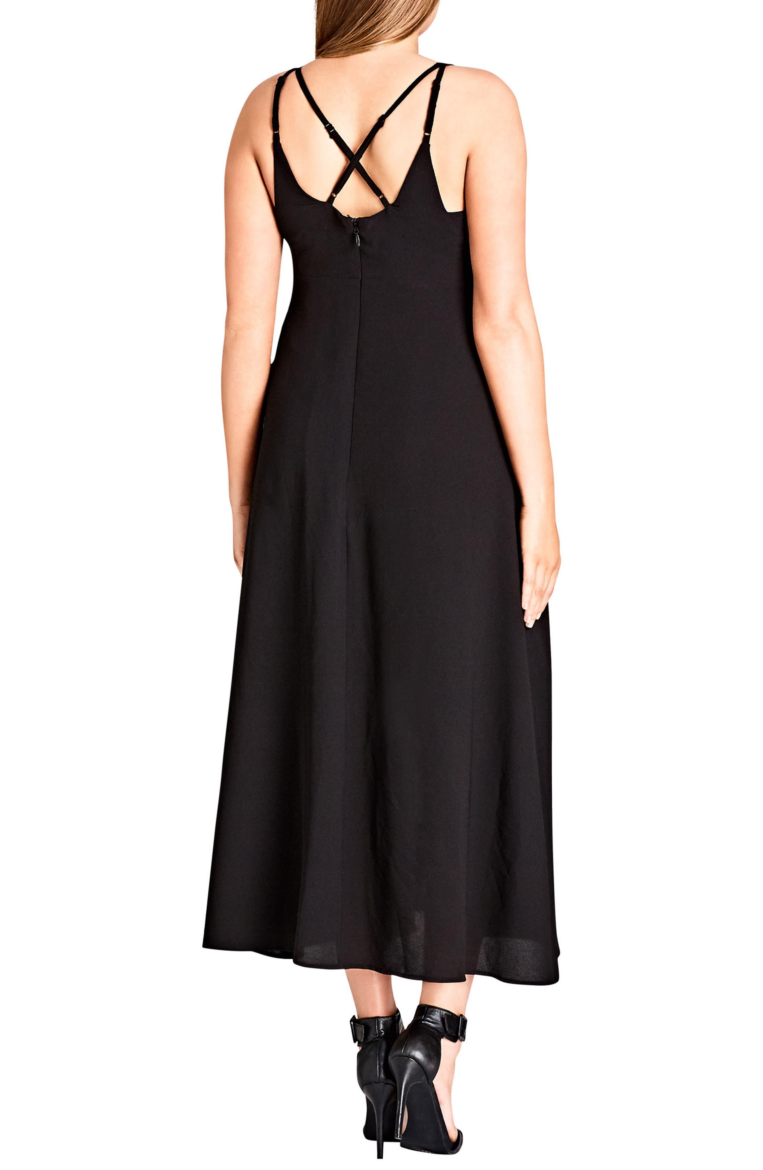 Sexy Strap Maxi Dress,                             Alternate thumbnail 2, color,                             Black