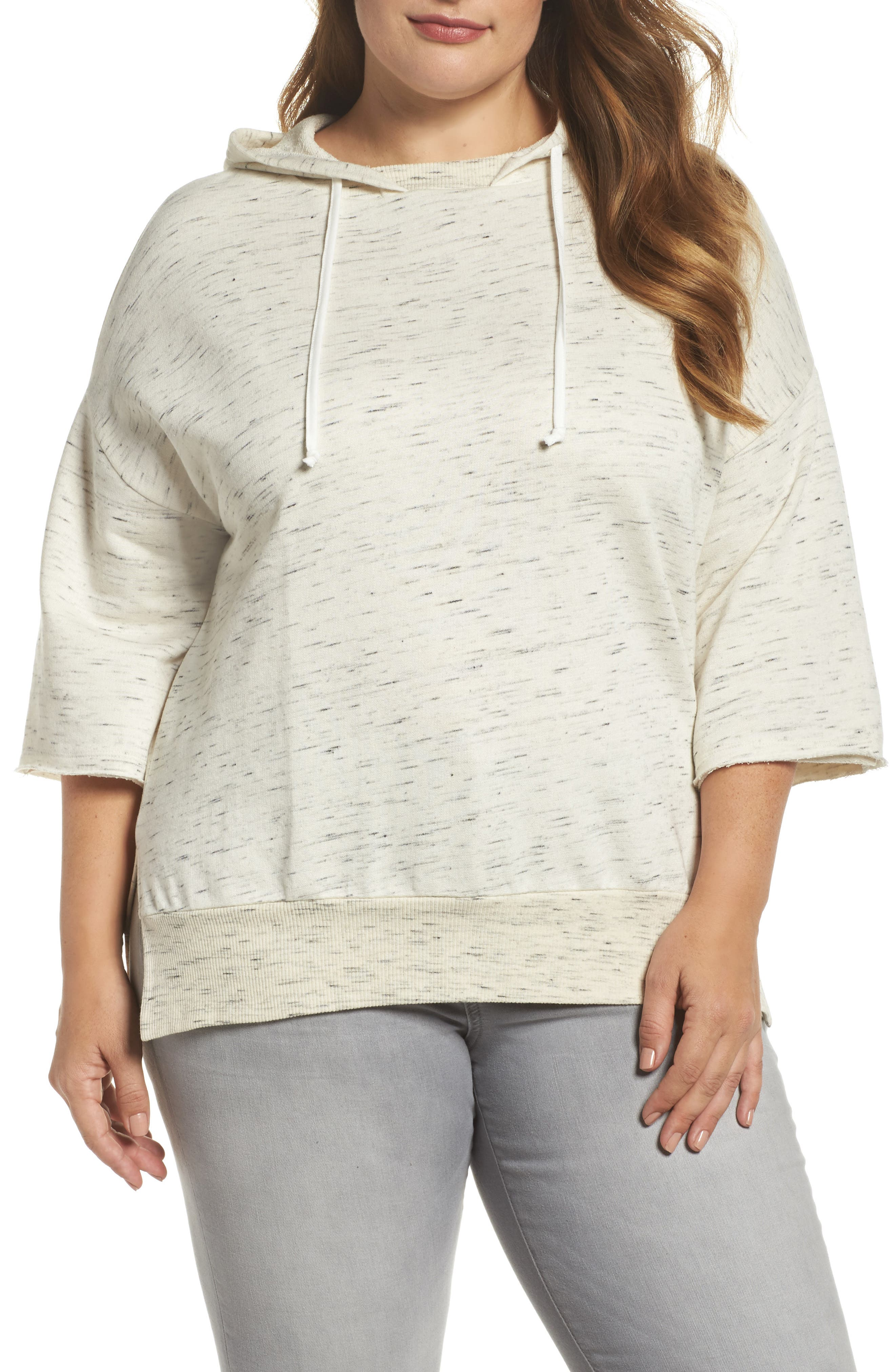 Main Image - Dantelle Hooded Pullover Sweatshirt (Plus Size)
