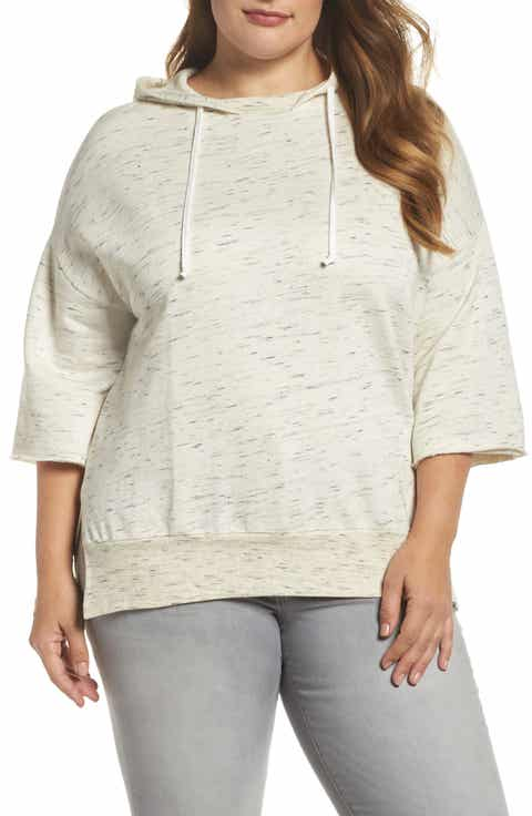 Dantelle Hooded Pullover Sweatshirt (Plus Size)