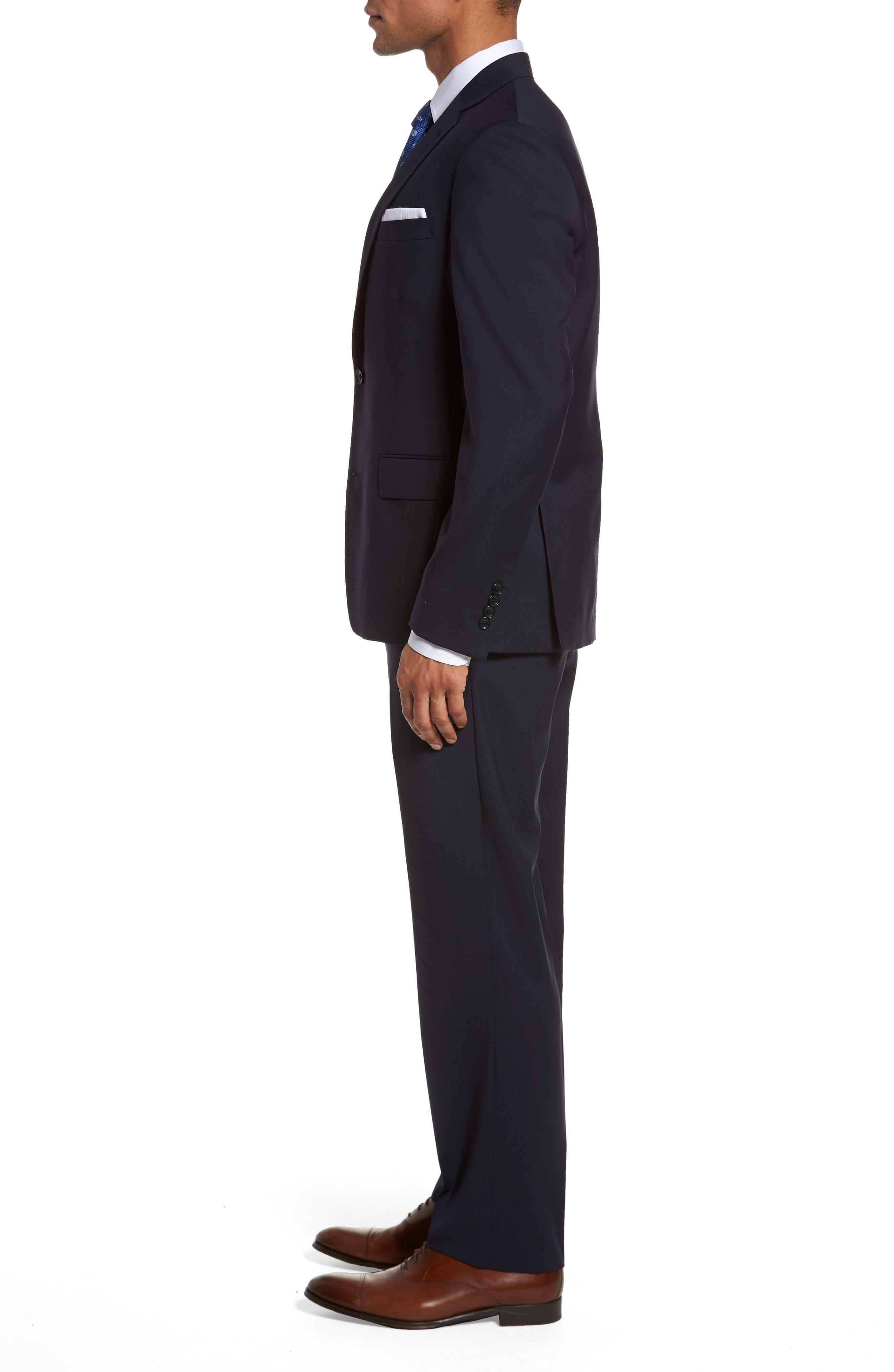 Classic Fit Check Suit,                             Alternate thumbnail 3, color,                             Navy