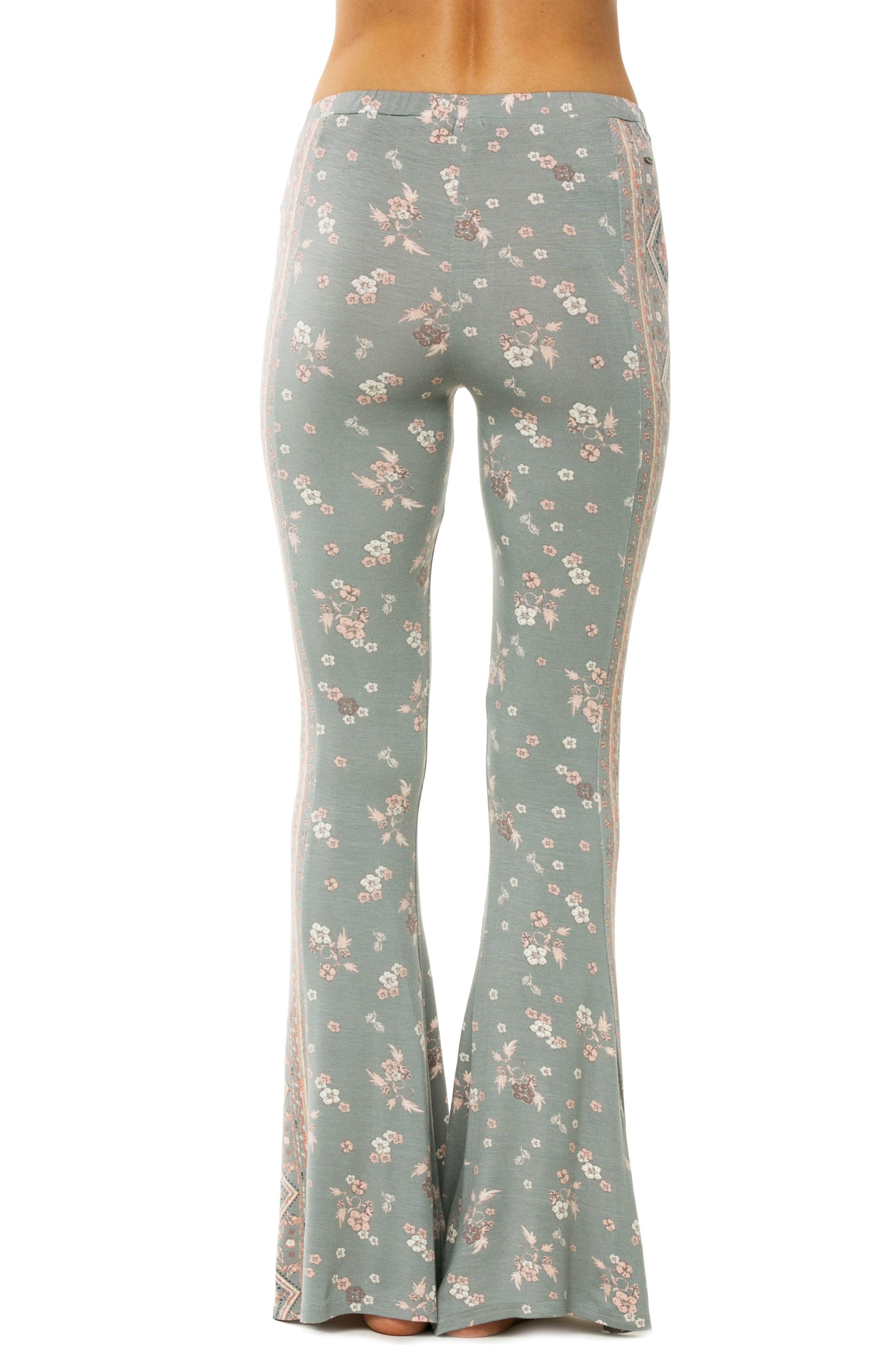 Kelli Knit Flare Pants,                             Alternate thumbnail 2, color,                             Neutral Gray - Fog