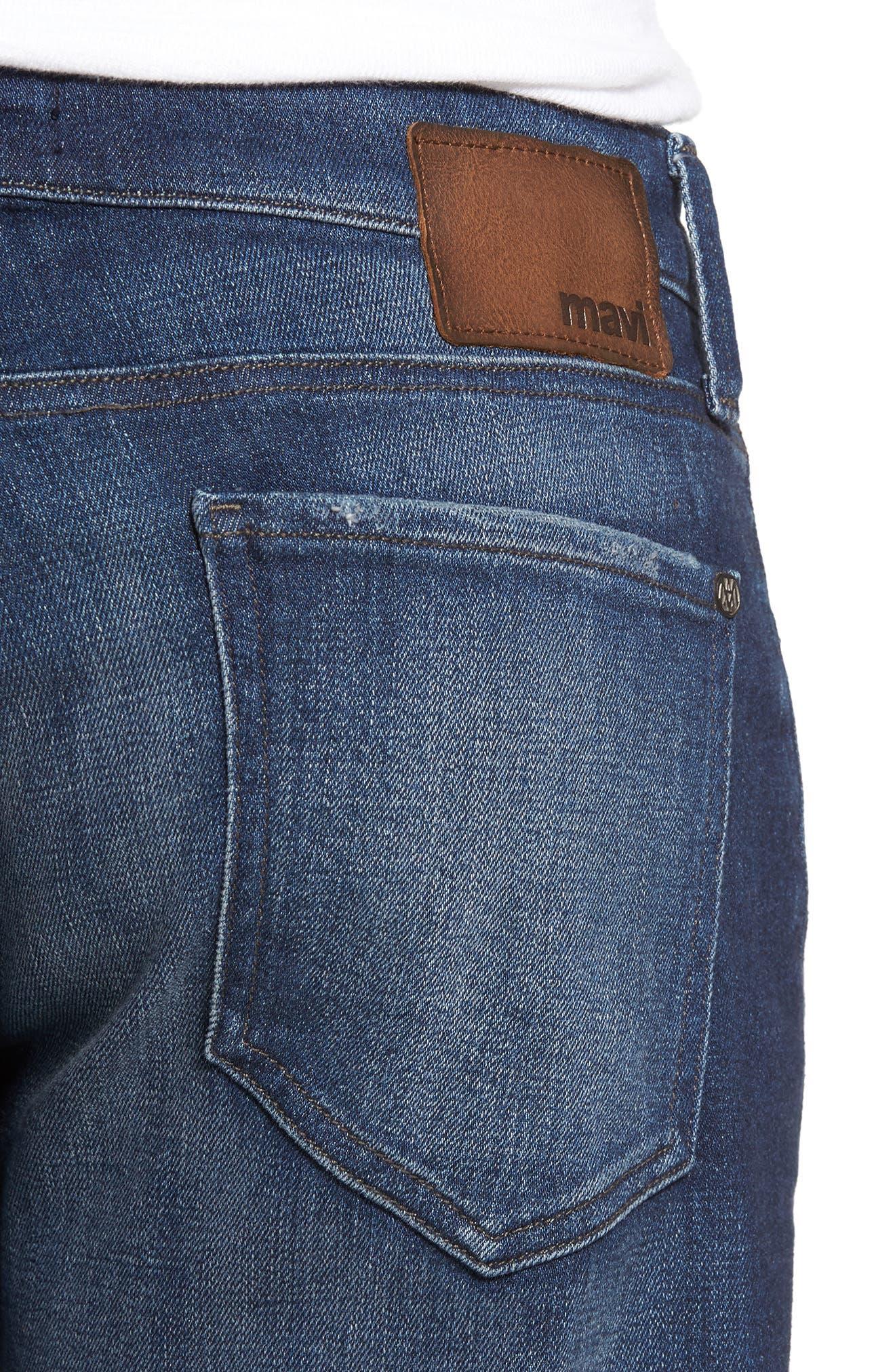 Zach Straight Leg Jeans,                             Alternate thumbnail 4, color,                             Dark Brooklyn