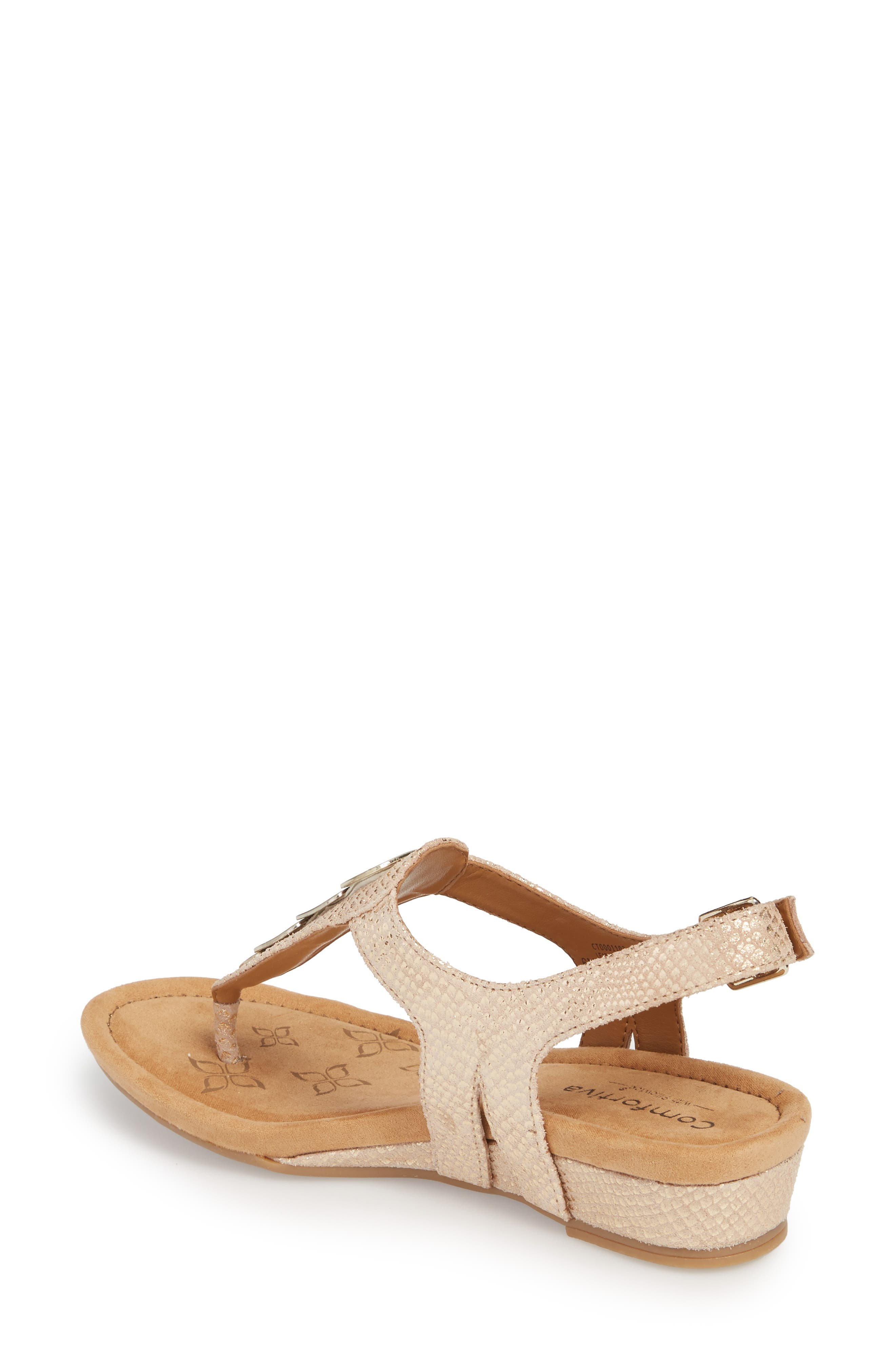 Summit Wedge Sandal,                             Alternate thumbnail 2, color,                             Gold Suede