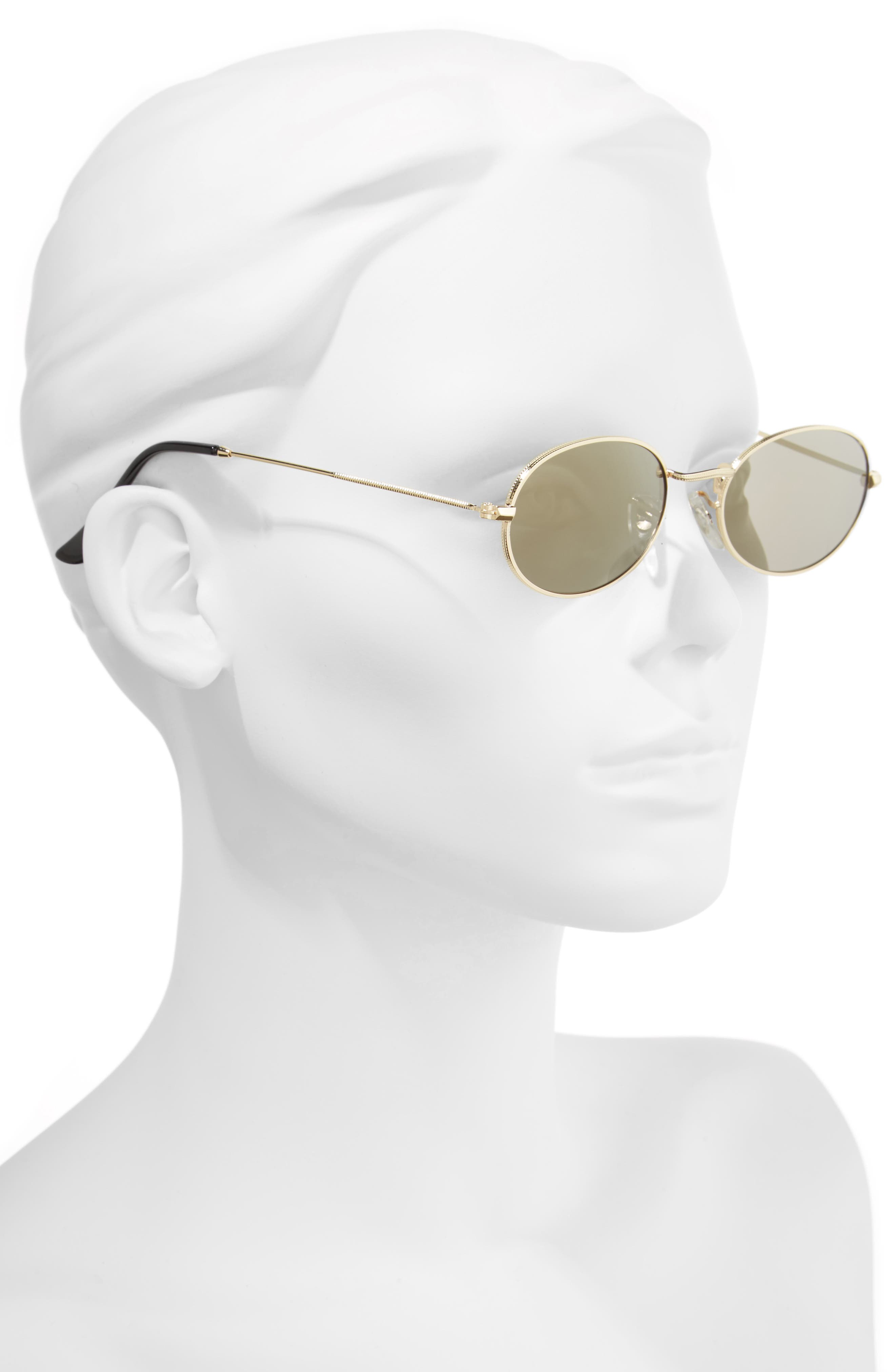 The Kendall 51mm Metal Sunglasses,                             Alternate thumbnail 2, color,                             Gold