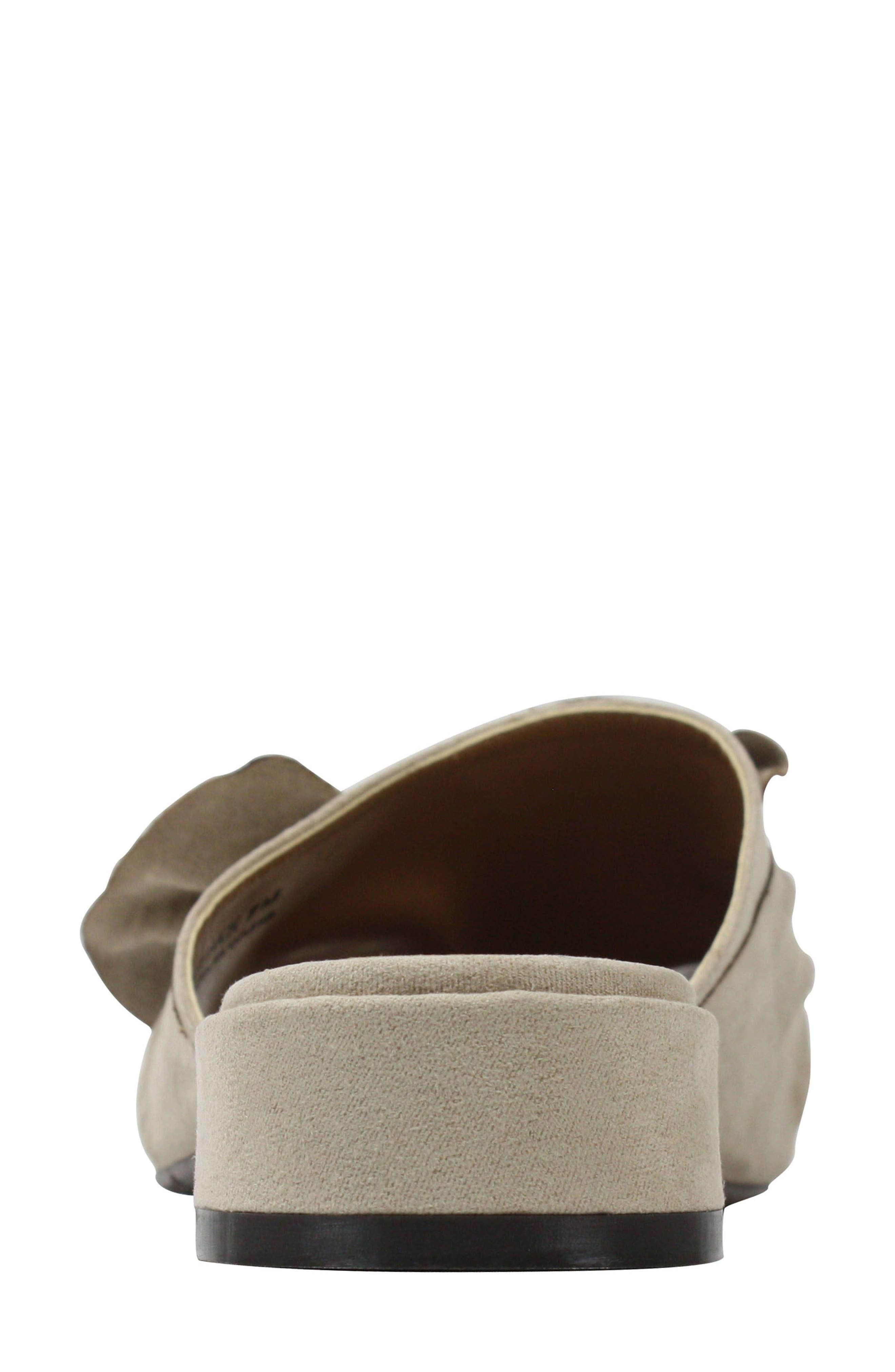 Sattuck Slide Sandal,                             Alternate thumbnail 3, color,                             Dark Beige Fabric