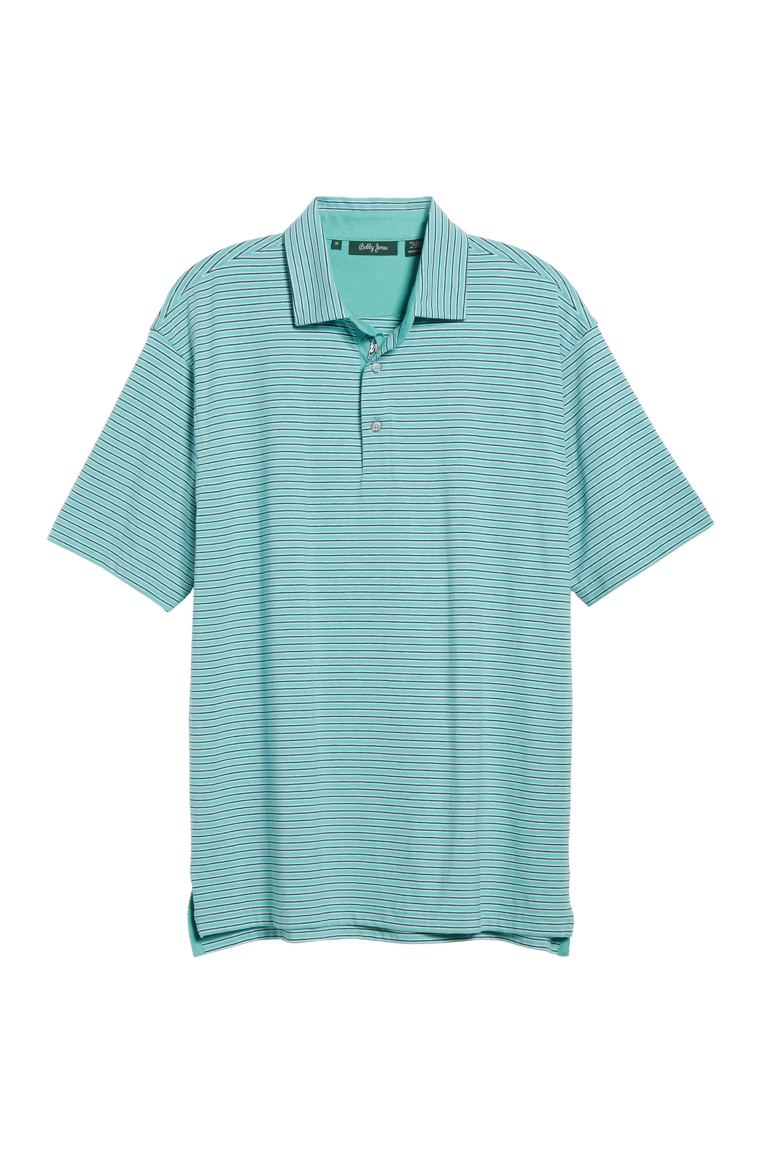 Crest Stripe Polo,                             Alternate thumbnail 6, color,                             Wintergreen