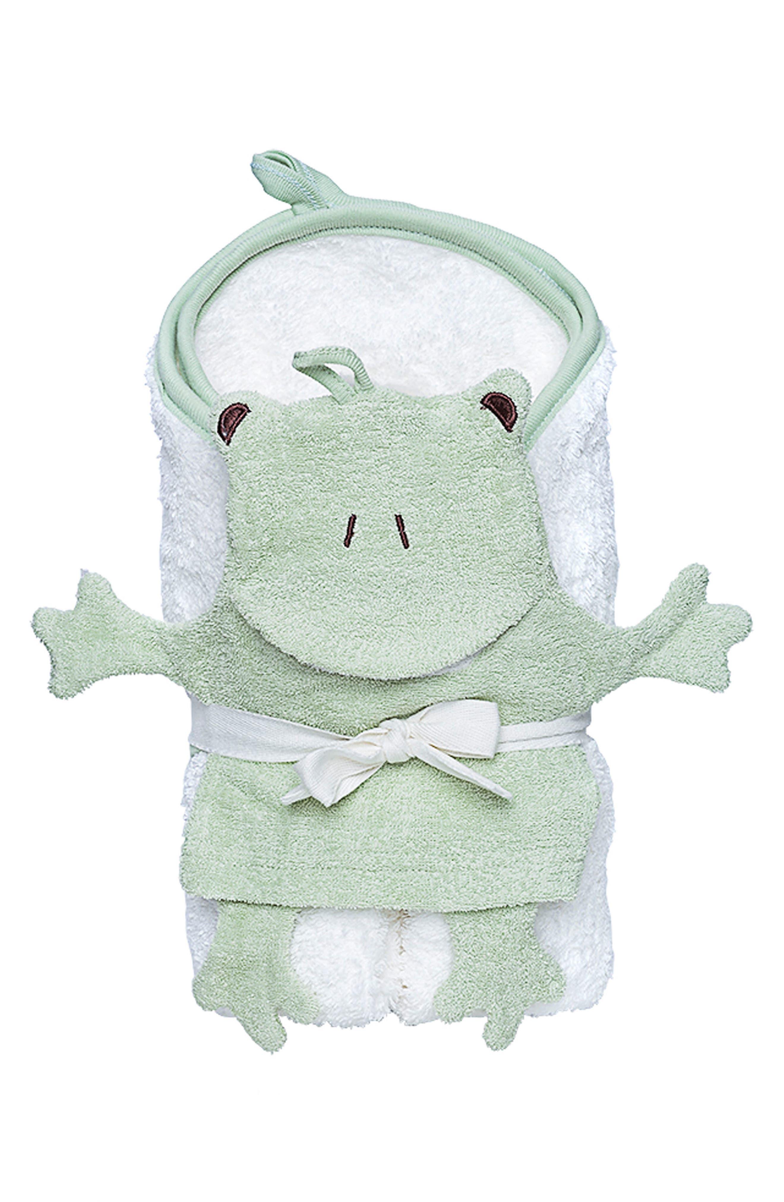 Hooded Towel & Bath Mitt Set,                         Main,                         color, Ivory
