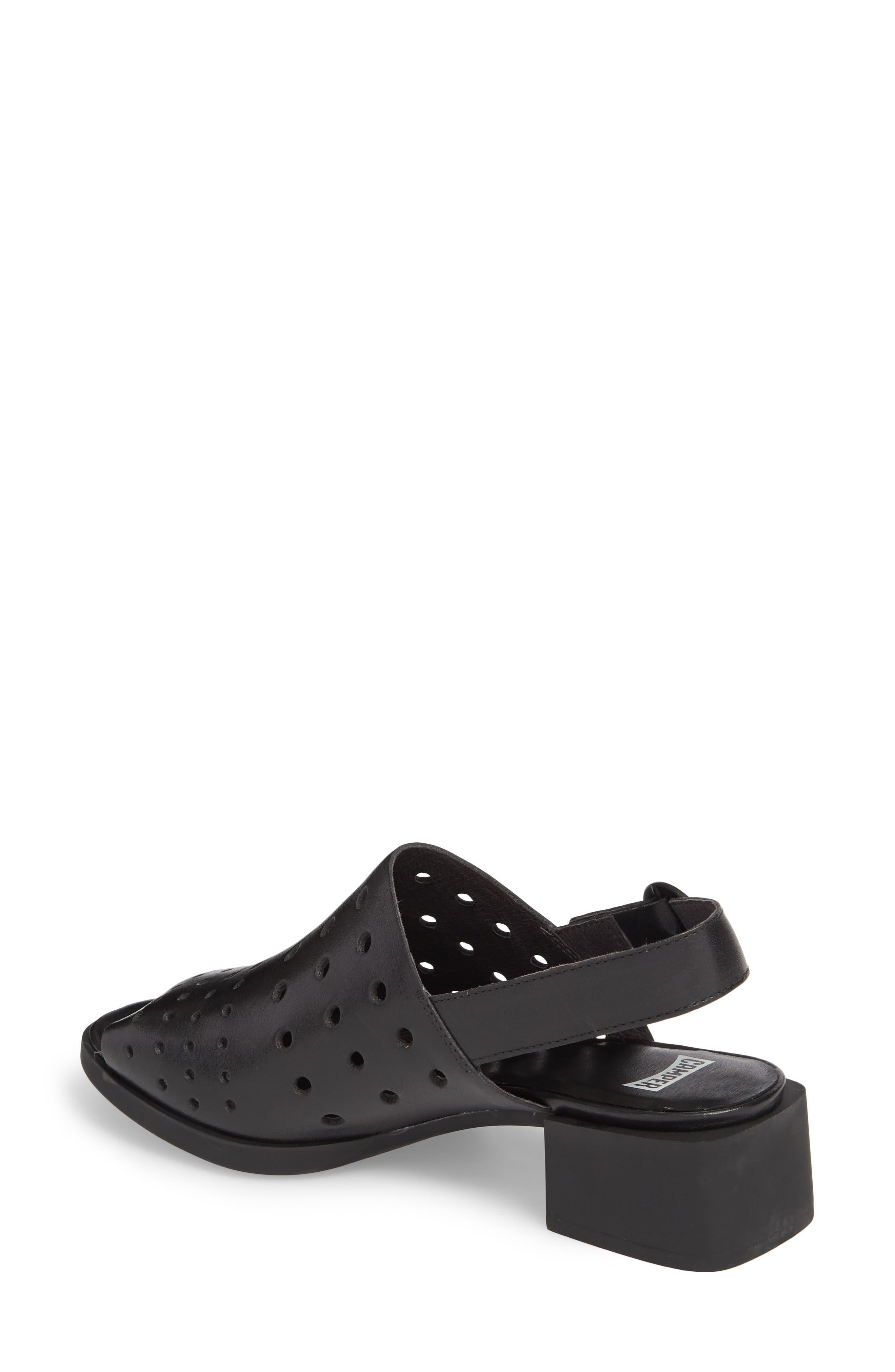 Twins Sandal,                             Alternate thumbnail 2, color,                             Black Leather
