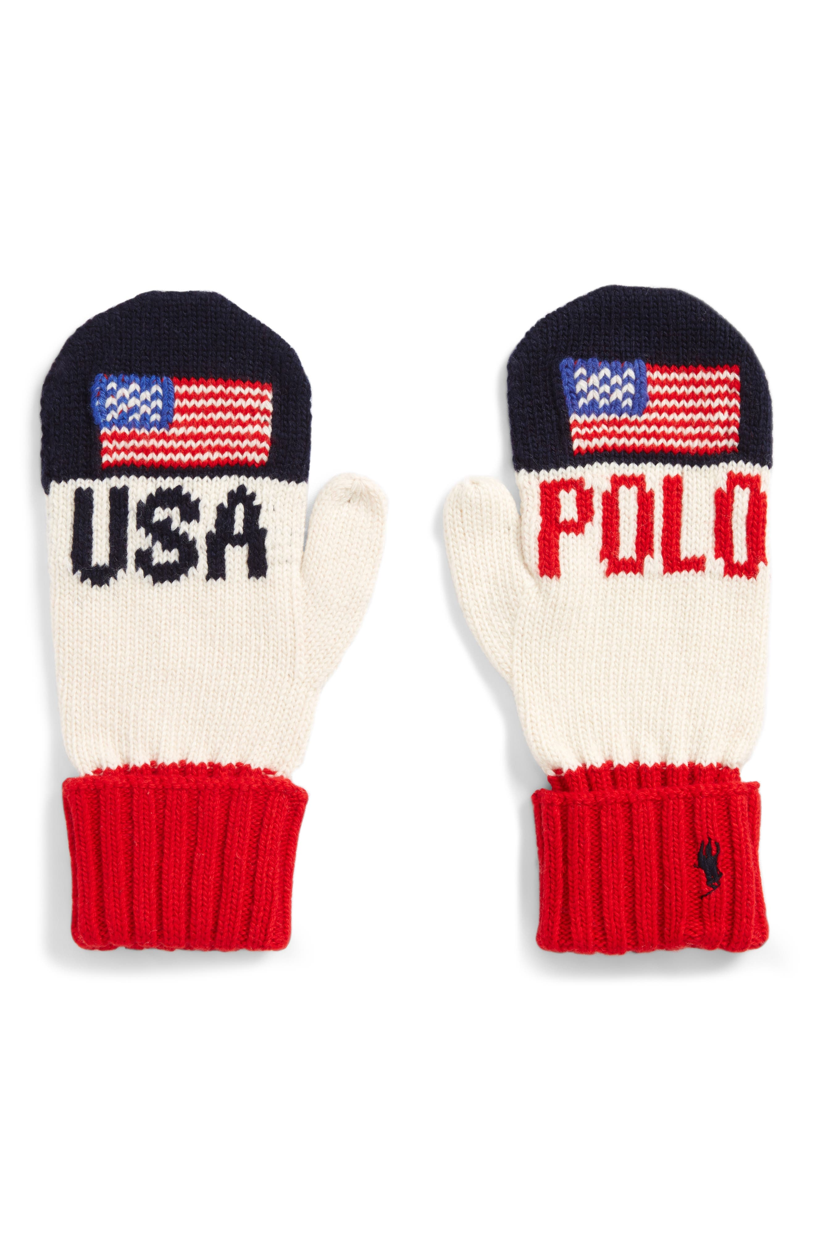 Main Image - Polo Ralph Lauren Colorblocked Flag Mittens