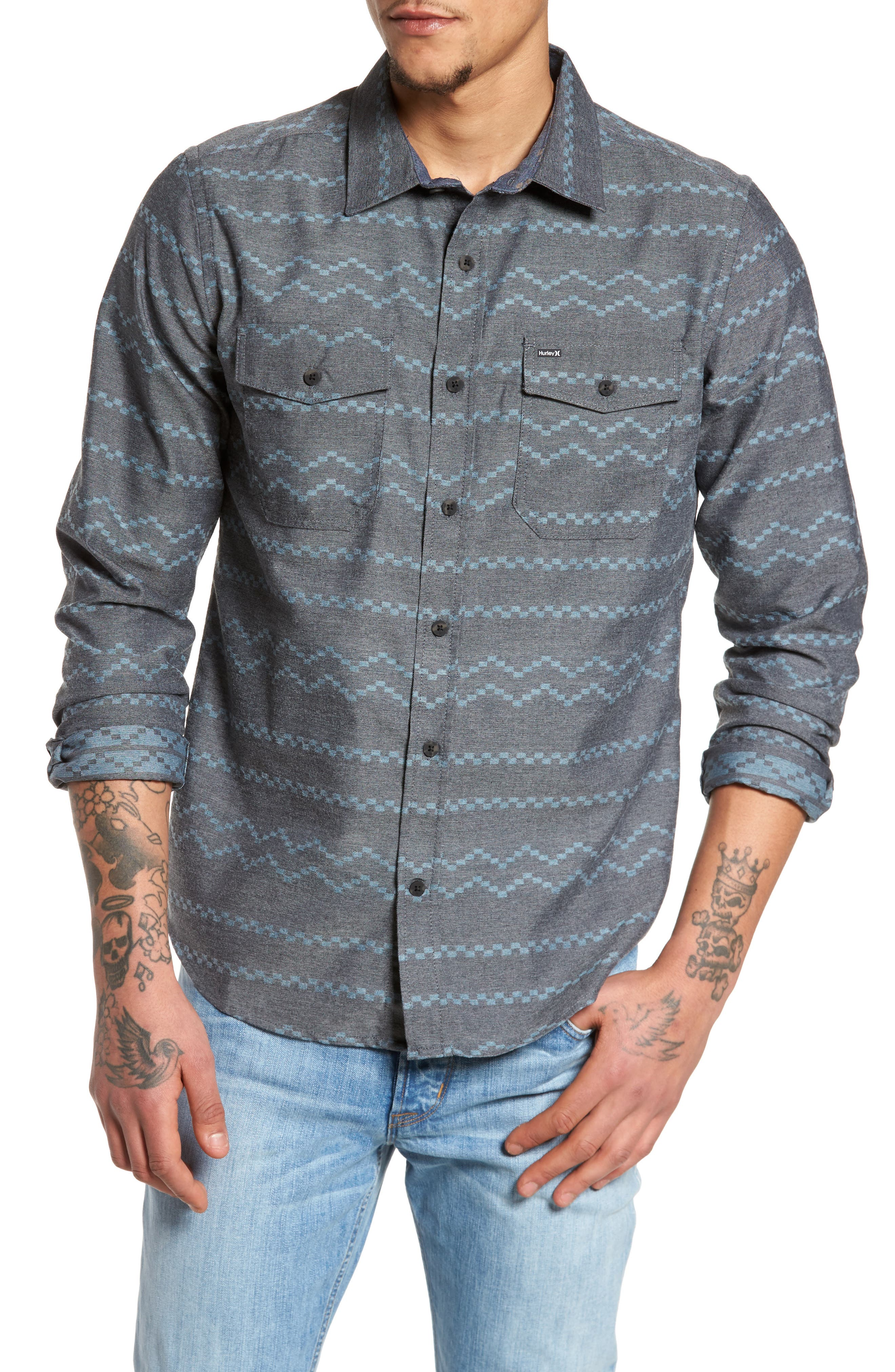 Pismo Dry Flannel Shirt,                         Main,                         color, Black