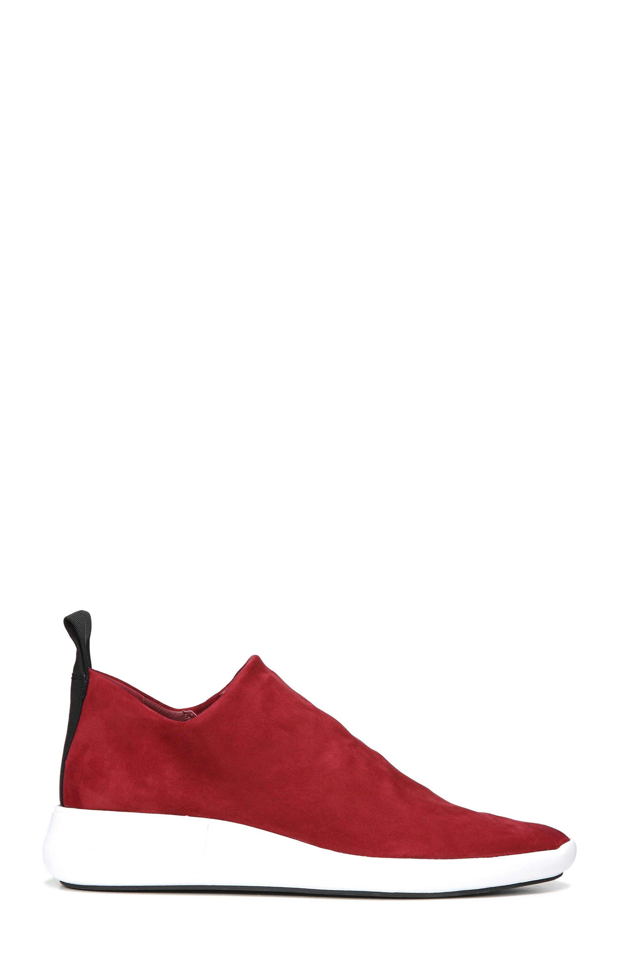 Marlow Slip-On Sneaker,                             Alternate thumbnail 3, color,                             Ruby Suede