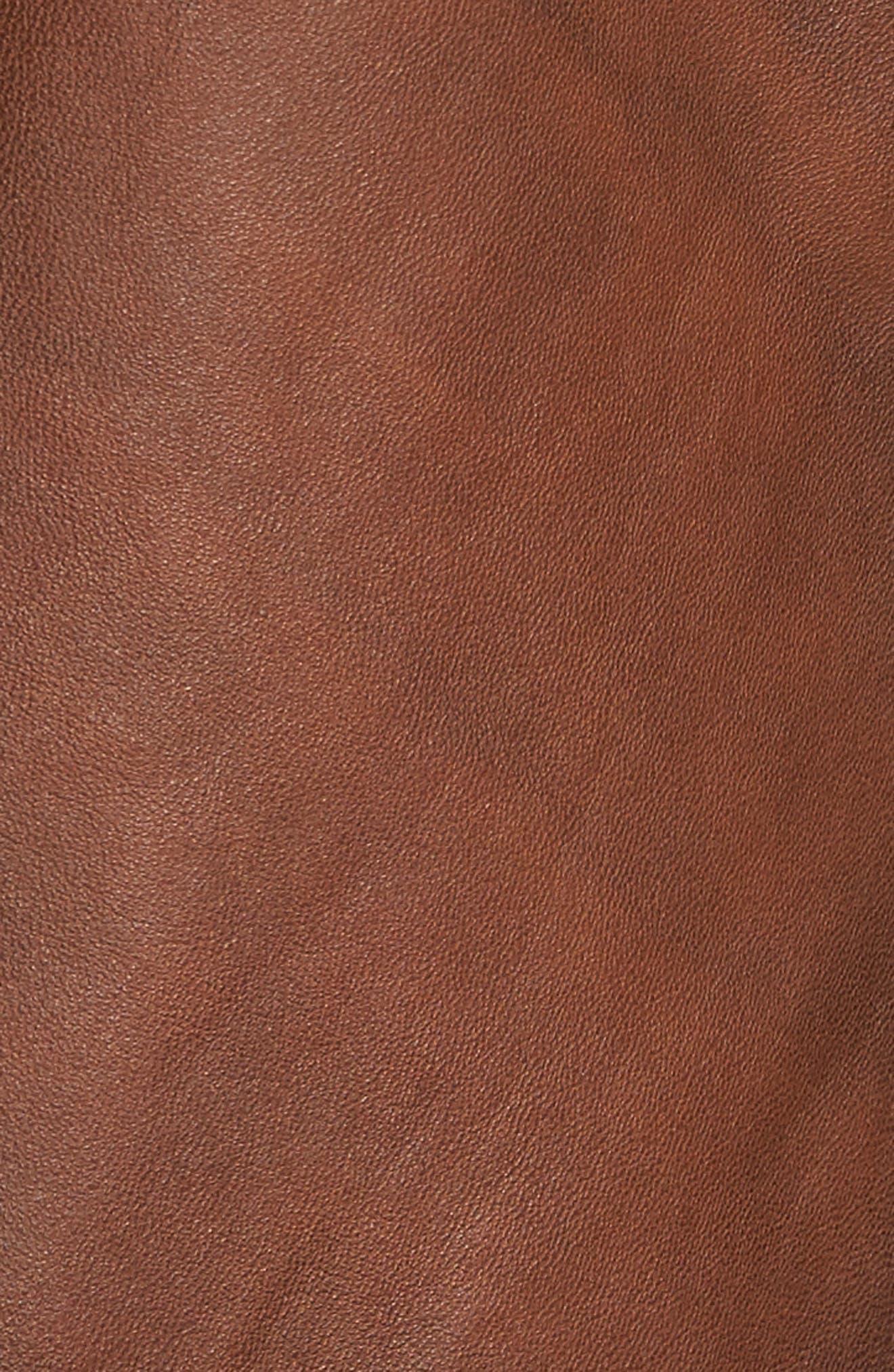 Vintage Leather Blazer,                             Alternate thumbnail 5, color,                             Brown